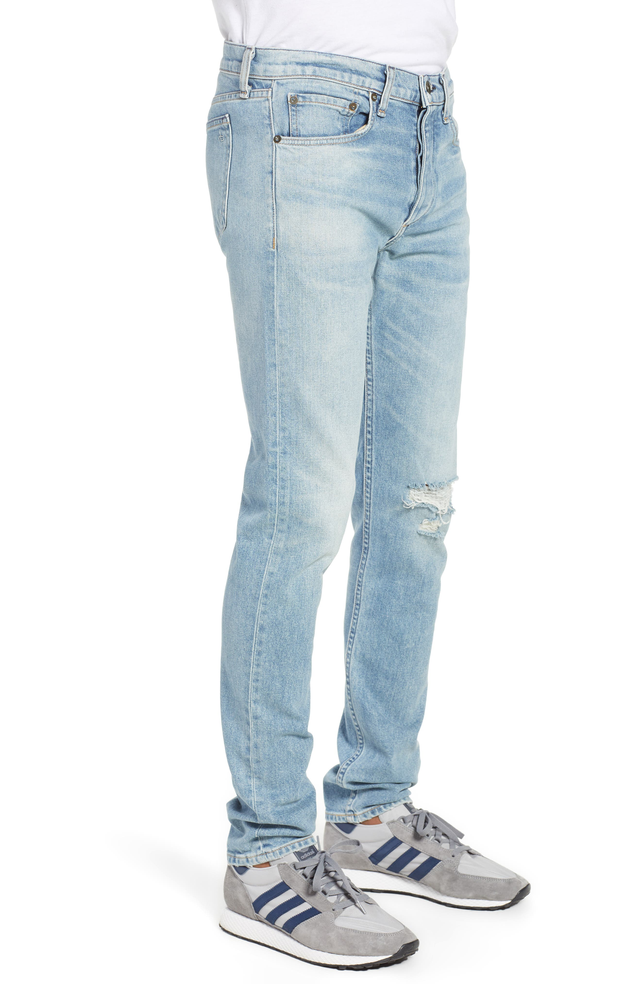 Fit 2 Slim Fit Jeans,                             Alternate thumbnail 3, color,                             JAMIE WITH HOLES