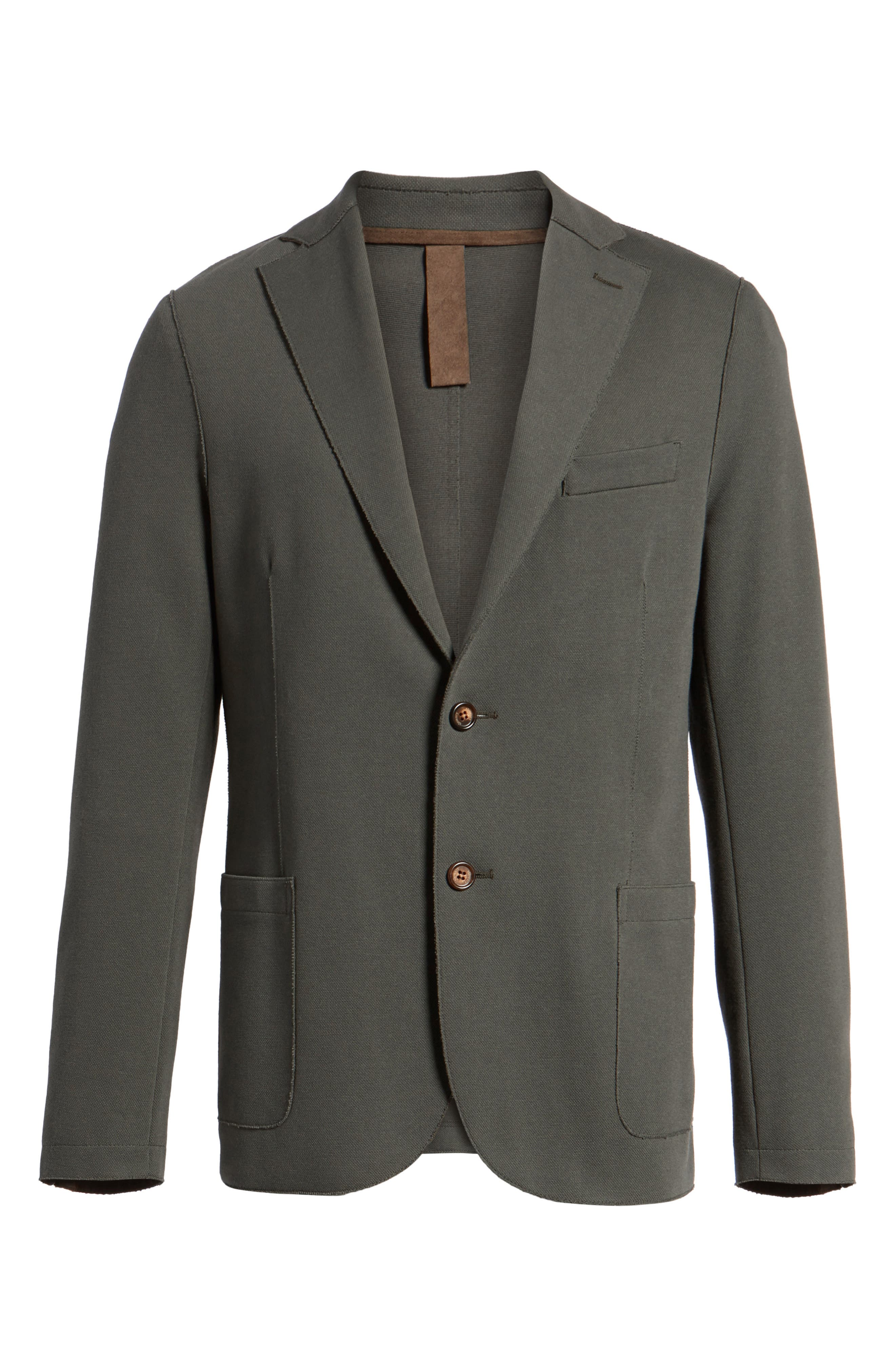 Trim Fit Laser Cut Piqué Jacket,                             Alternate thumbnail 5, color,                             328