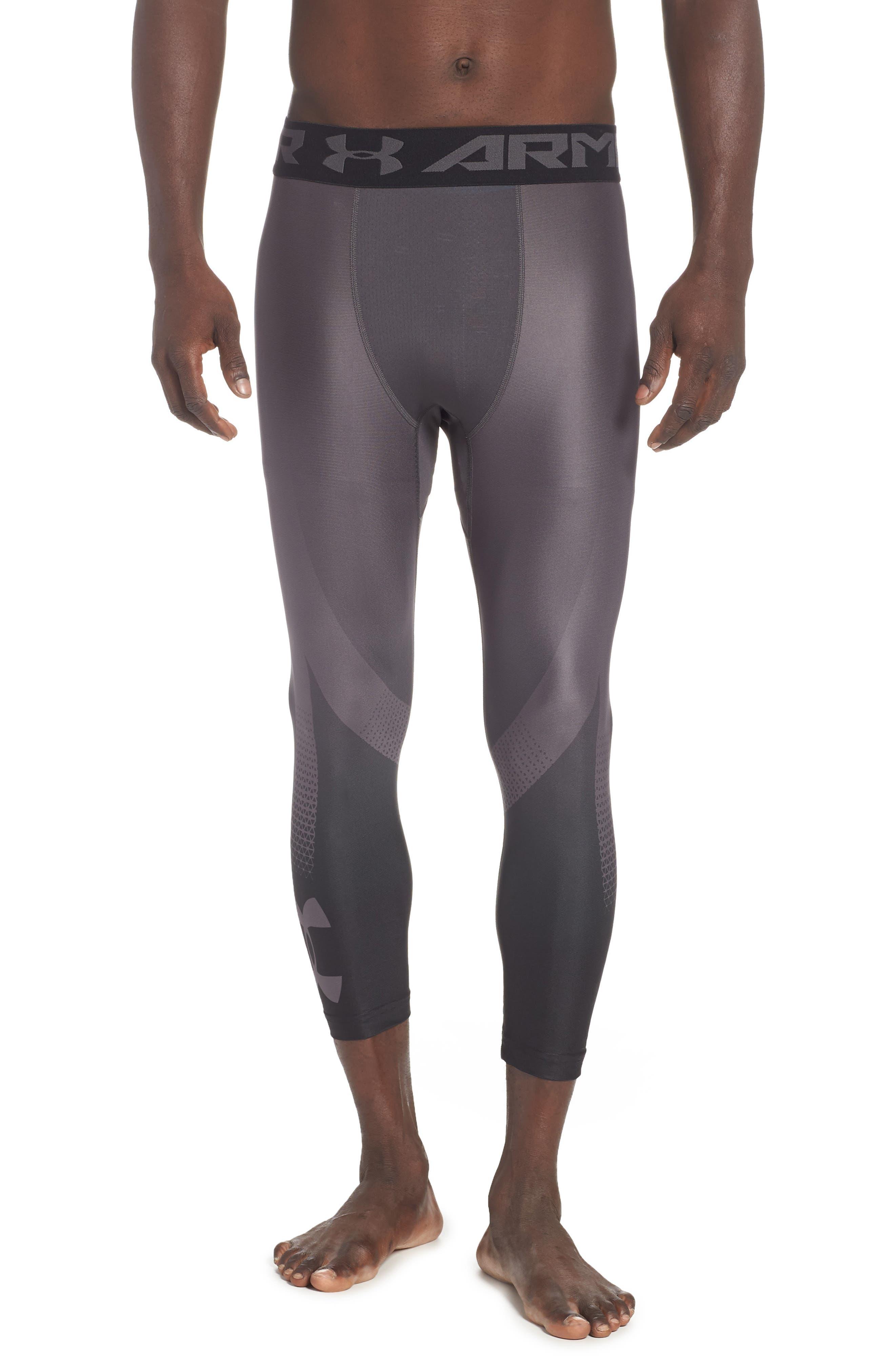 HeatGear<sup>®</sup> 2.0 Three-Quarter Leggings,                         Main,                         color, CHARCOAL