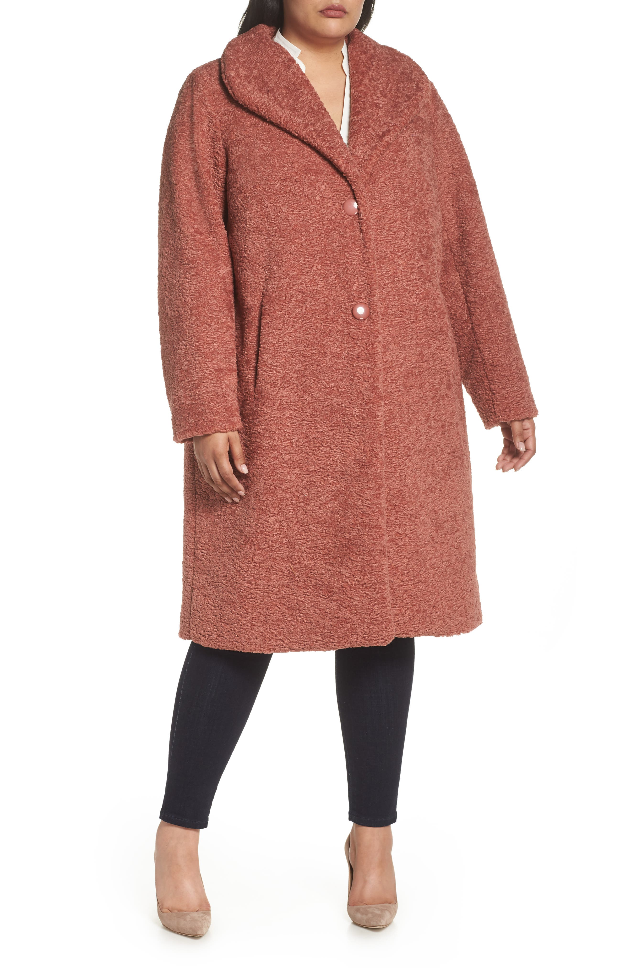 Faux Fur Coat,                             Alternate thumbnail 4, color,                             630
