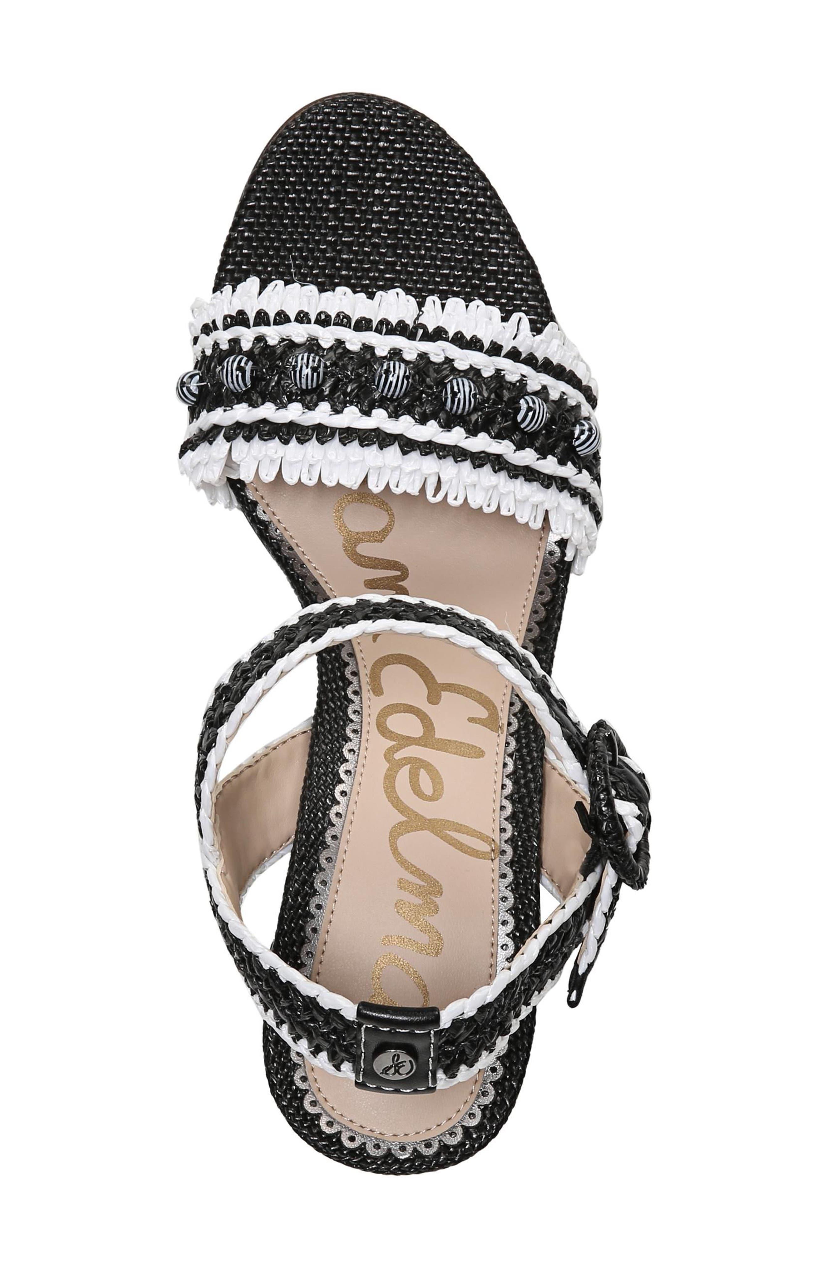 Olisa Block Heel Sandal,                             Alternate thumbnail 5, color,                             001
