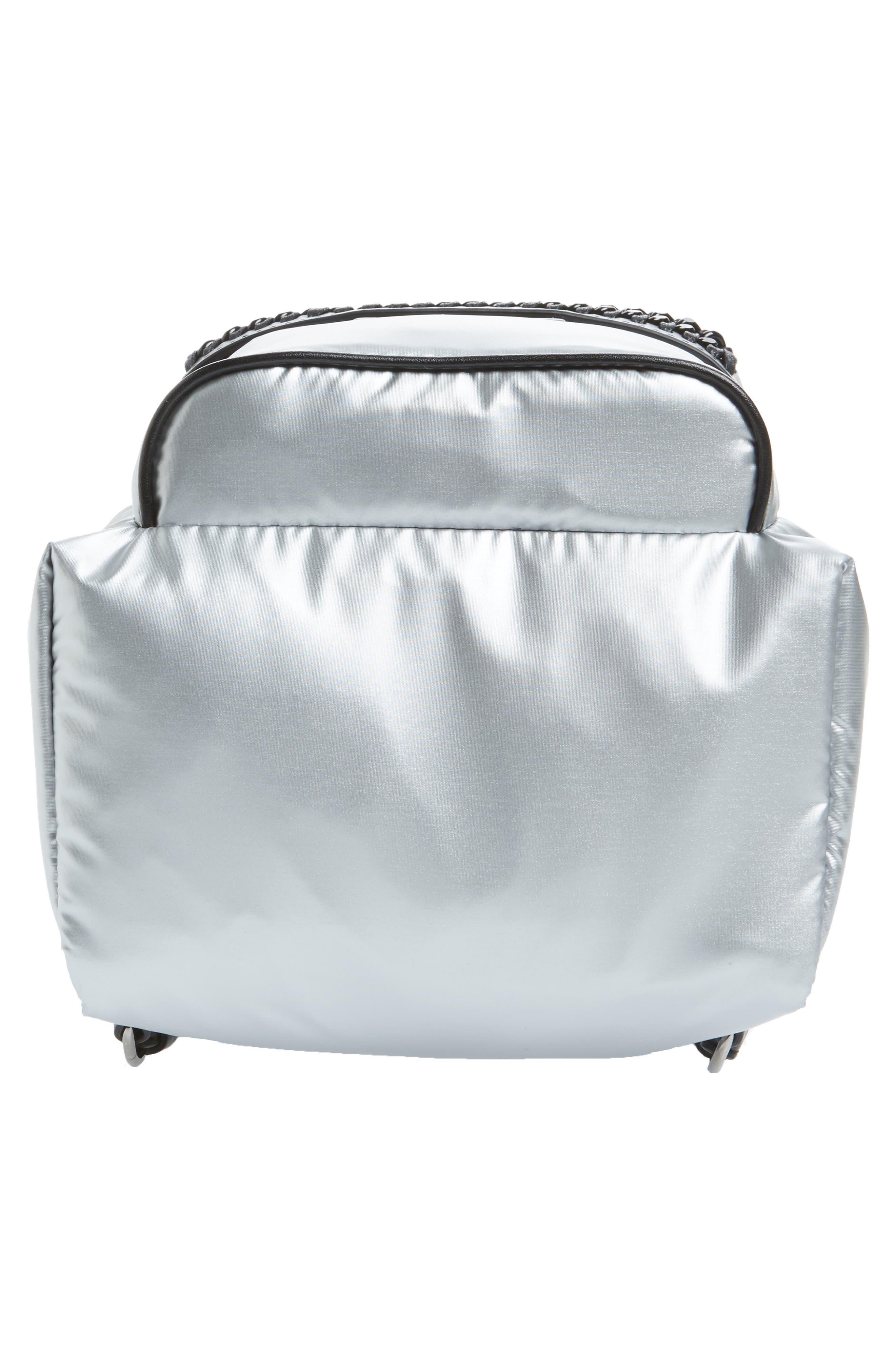 Mini Metallic Nylon Backpack,                             Alternate thumbnail 6, color,                             045