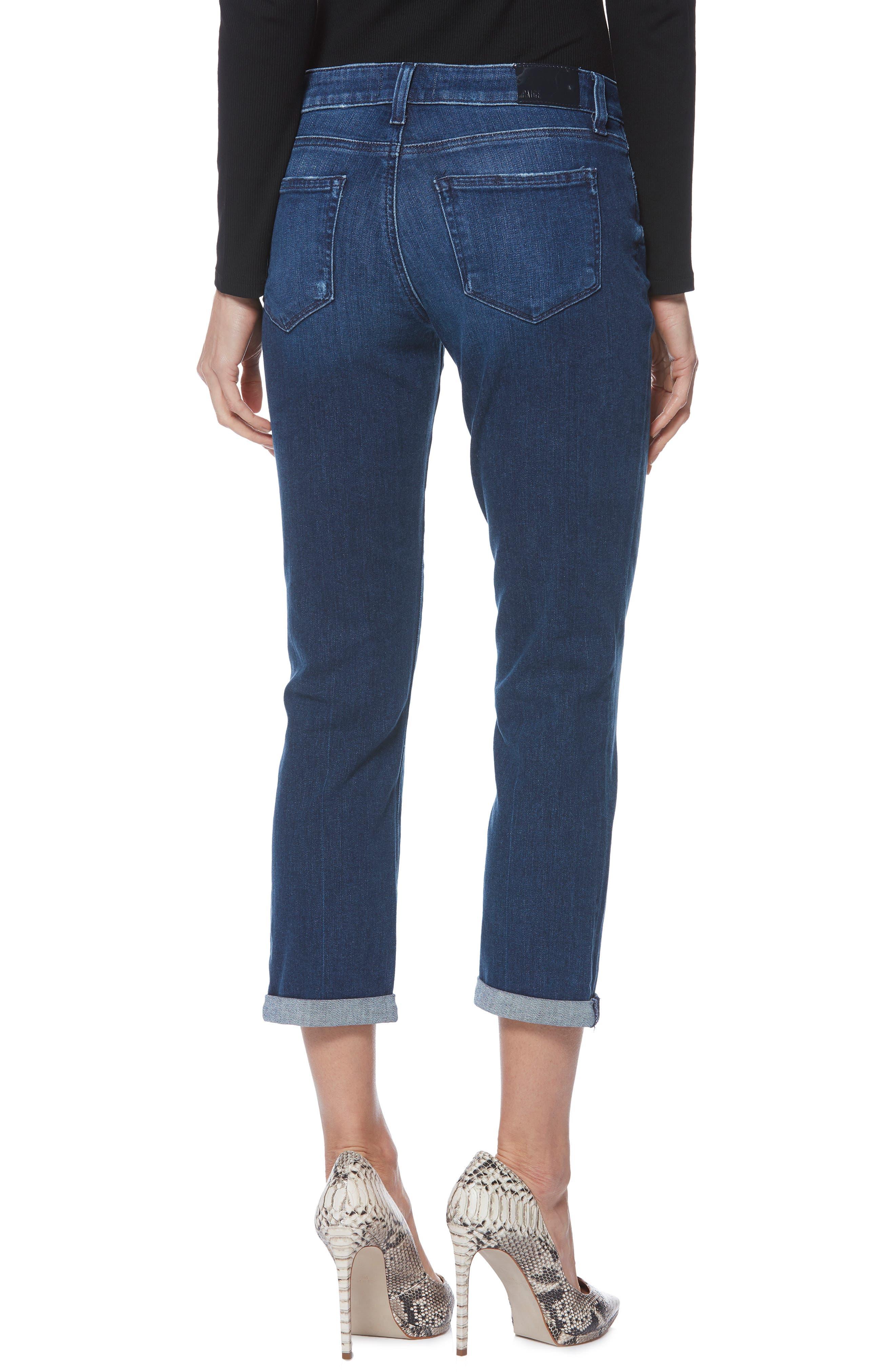 PAIGE,                             Brigitte Crop Boyfriend Jeans,                             Alternate thumbnail 2, color,                             NAPLES