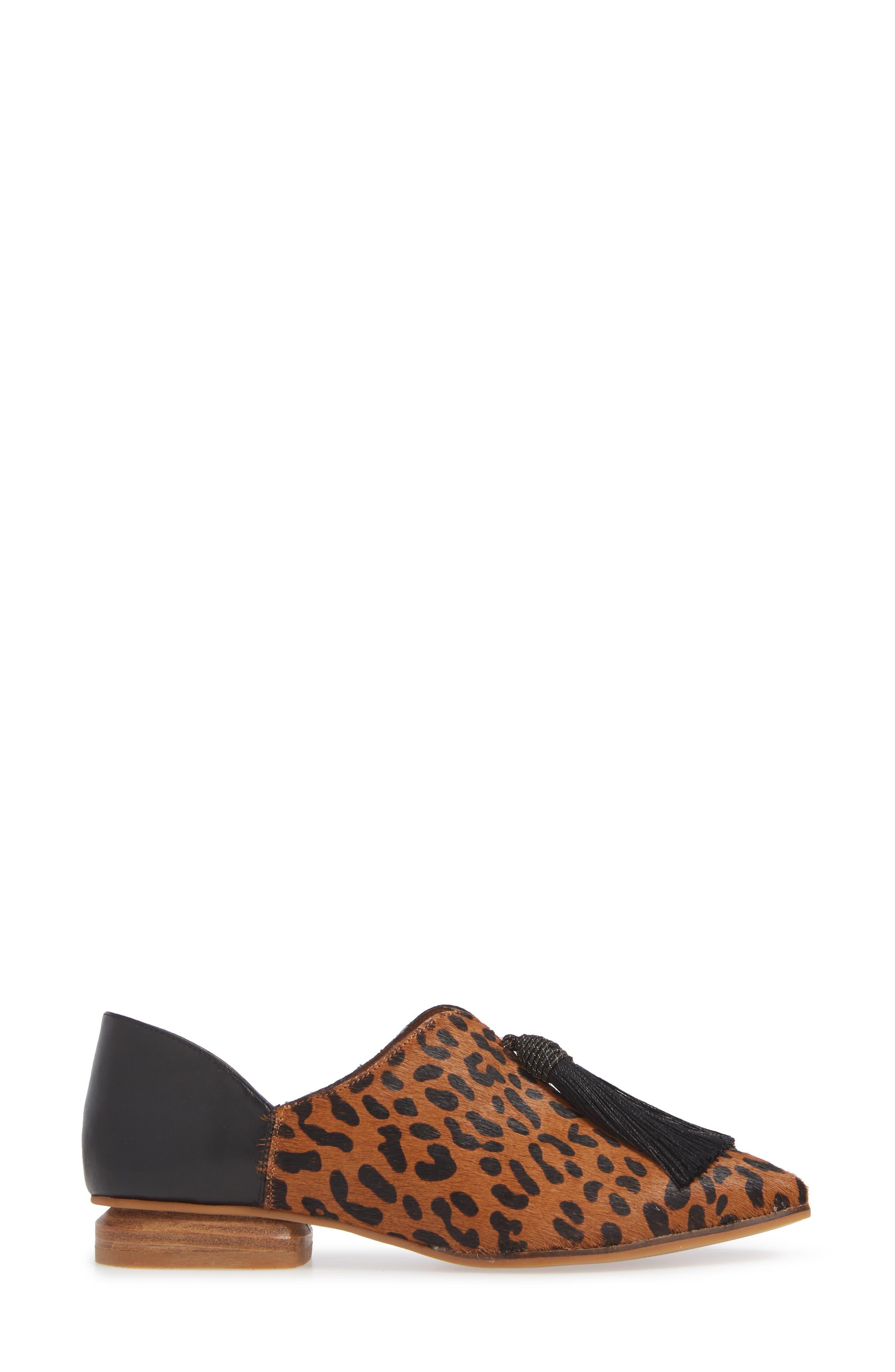 SBICCA,                             Primwood Tassel Loafer,                             Alternate thumbnail 3, color,                             BLACK LEOPARD LEATHER