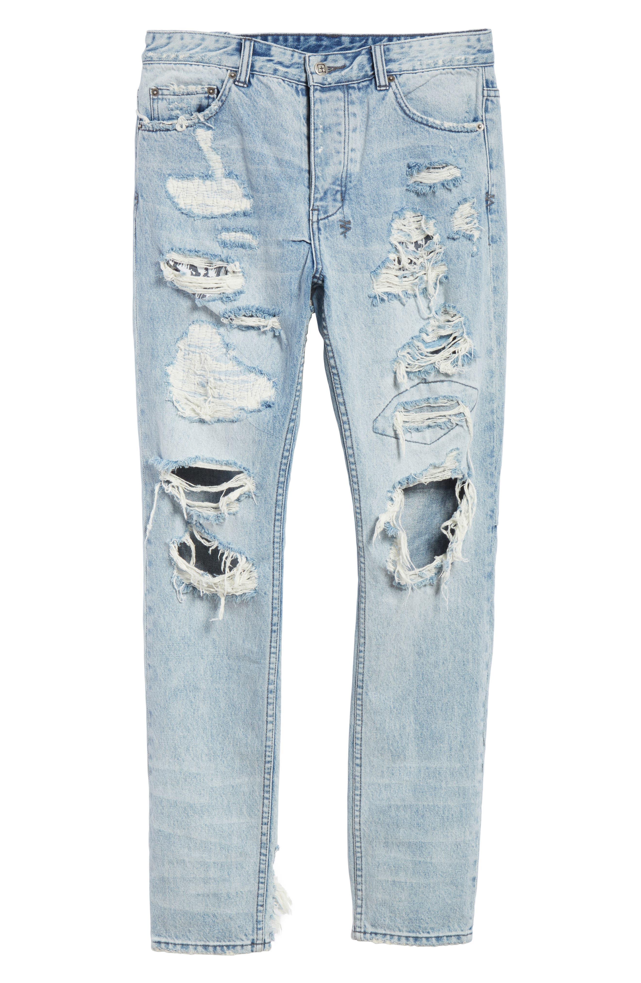 Chitch Tropo Trash Jeans,                             Alternate thumbnail 6, color,                             DENIM