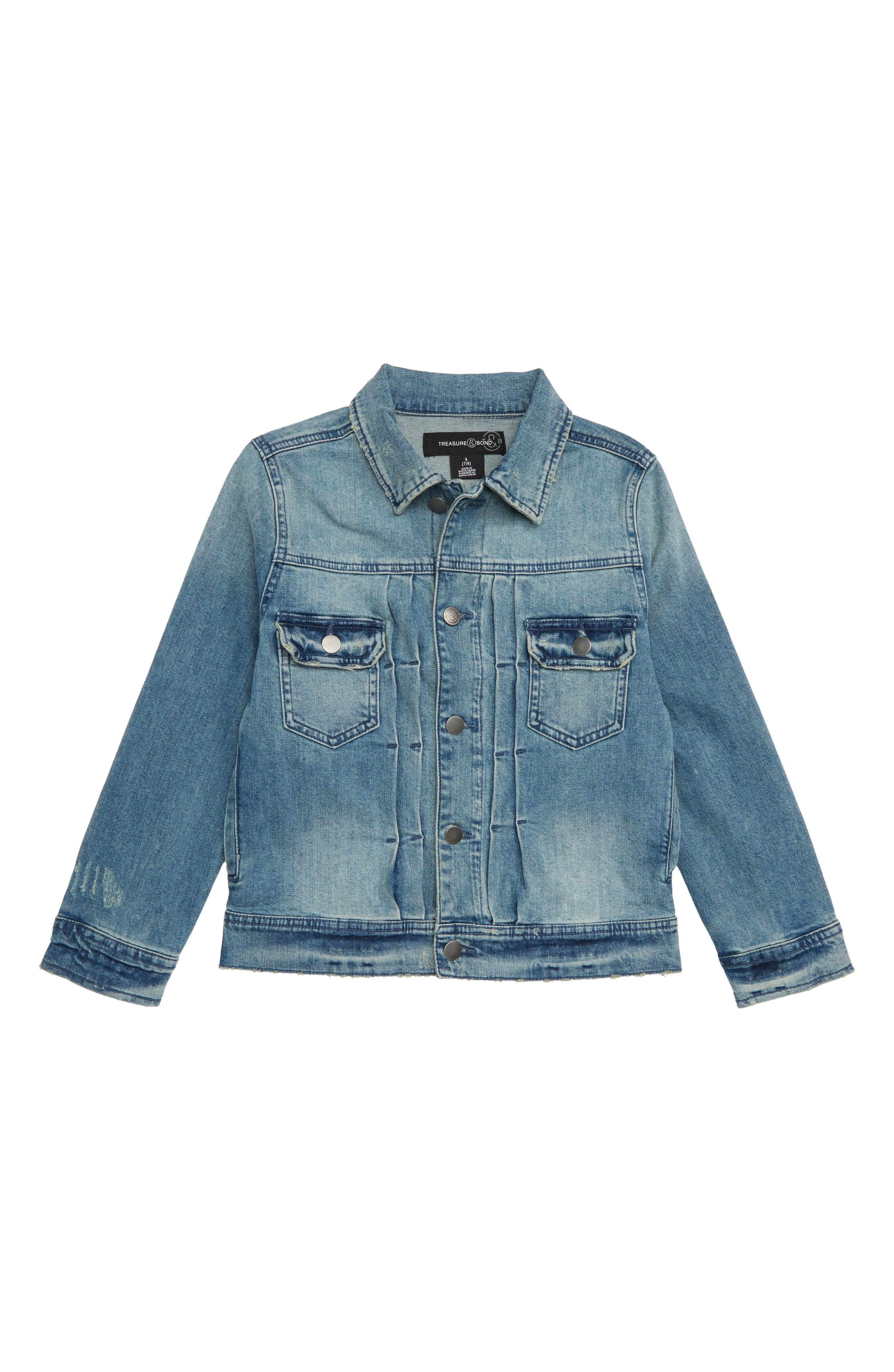 Denim Jacket,                             Main thumbnail 1, color,                             420
