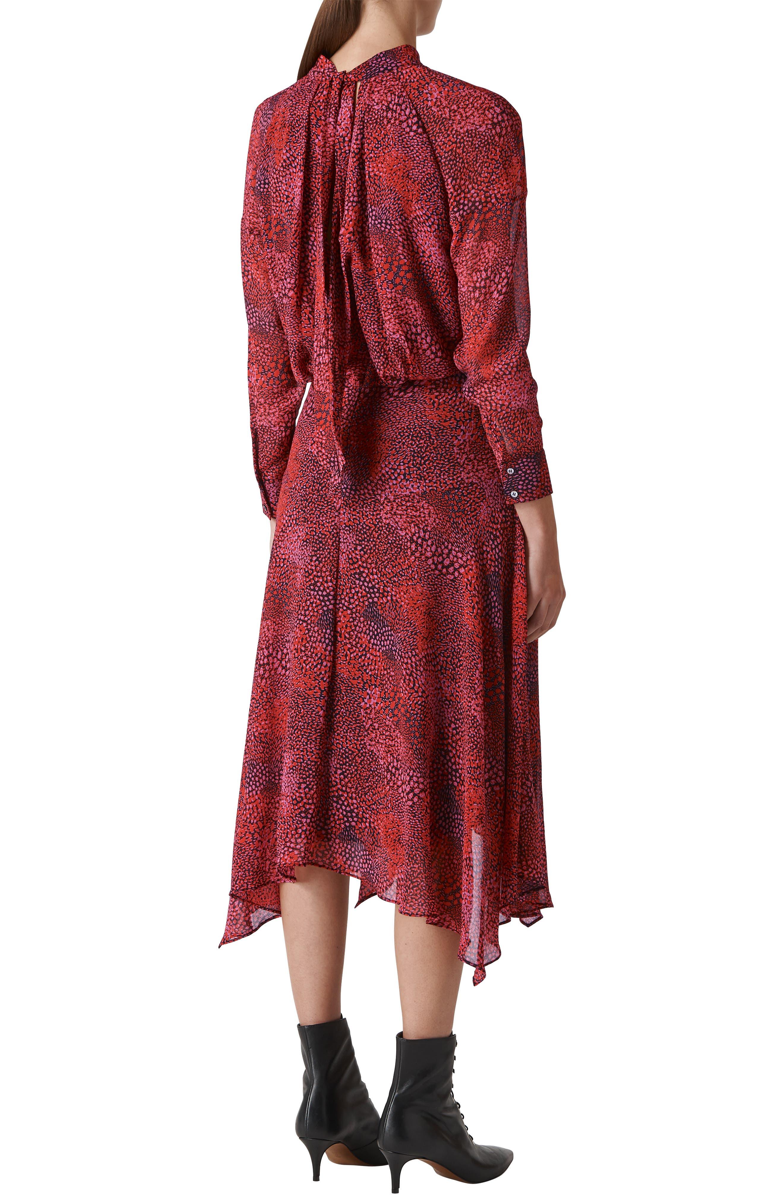 WHISTLES,                             Carlotta Abstract Animal Print Dress,                             Alternate thumbnail 2, color,                             PINK/ MULTI