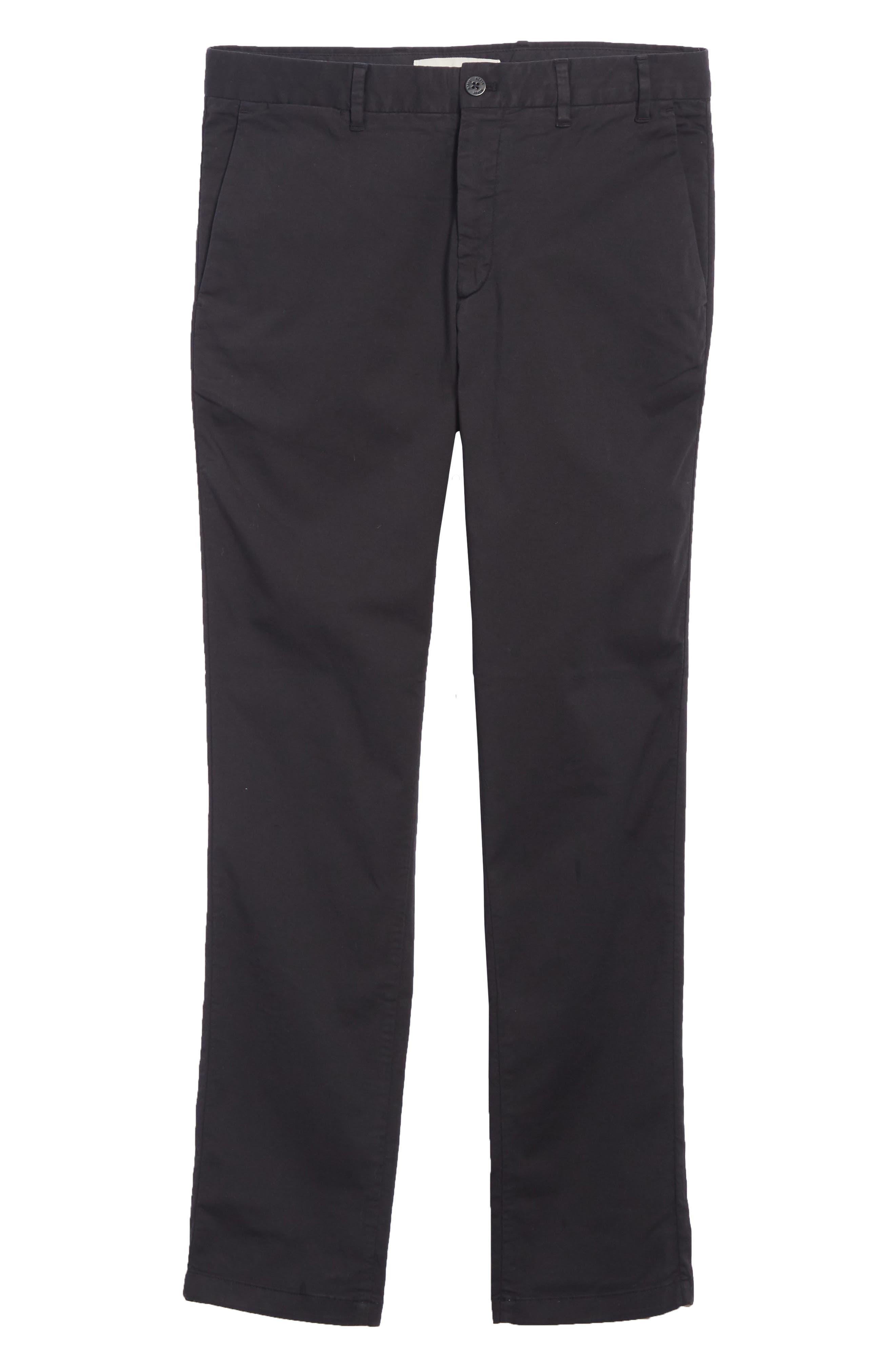 Aros Slim Fit Stretch Twill Pants,                             Alternate thumbnail 6, color,                             BLACK