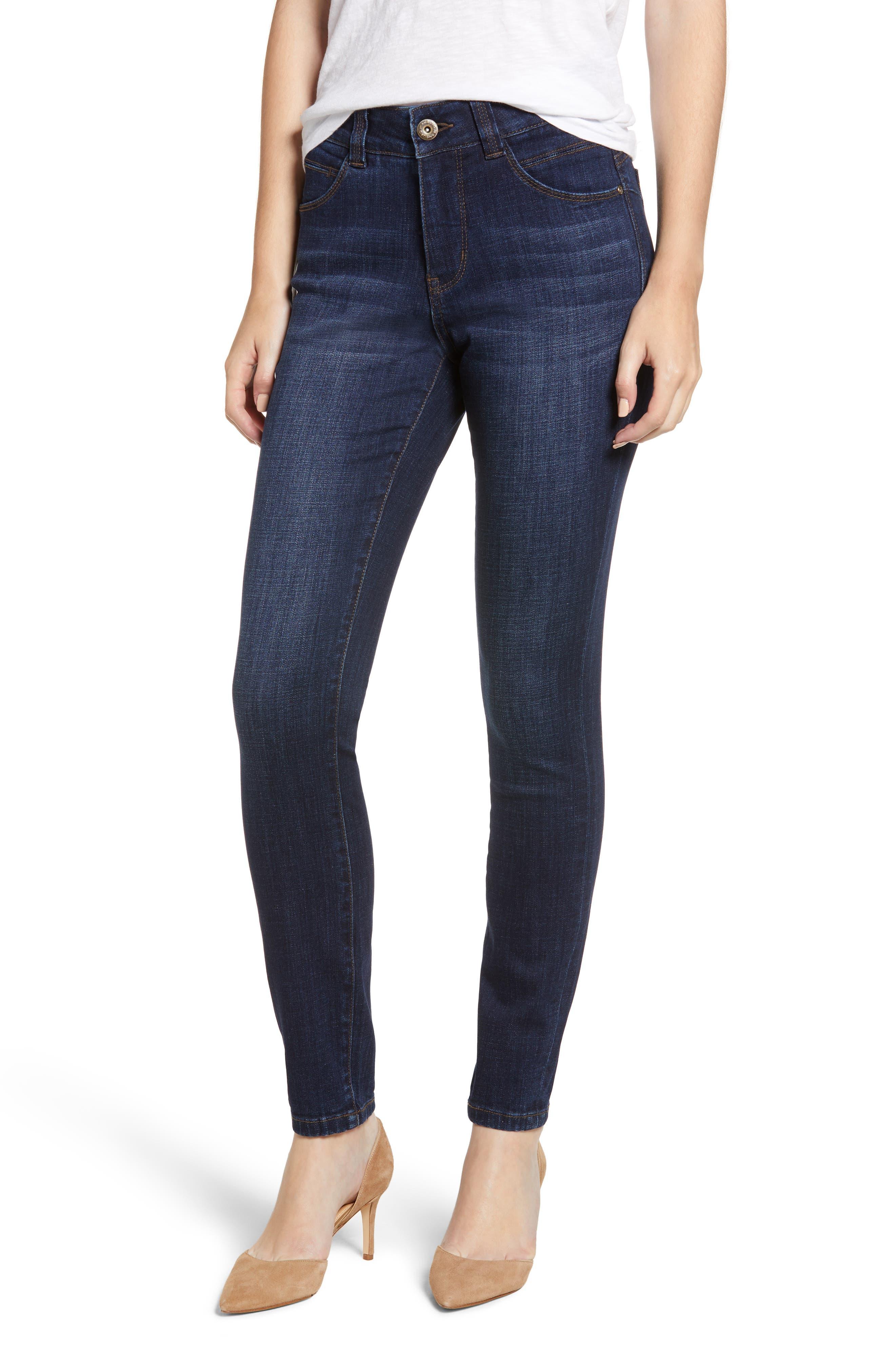 Cecilia Skinny Jeans In Medium Indigo in Med Indigo
