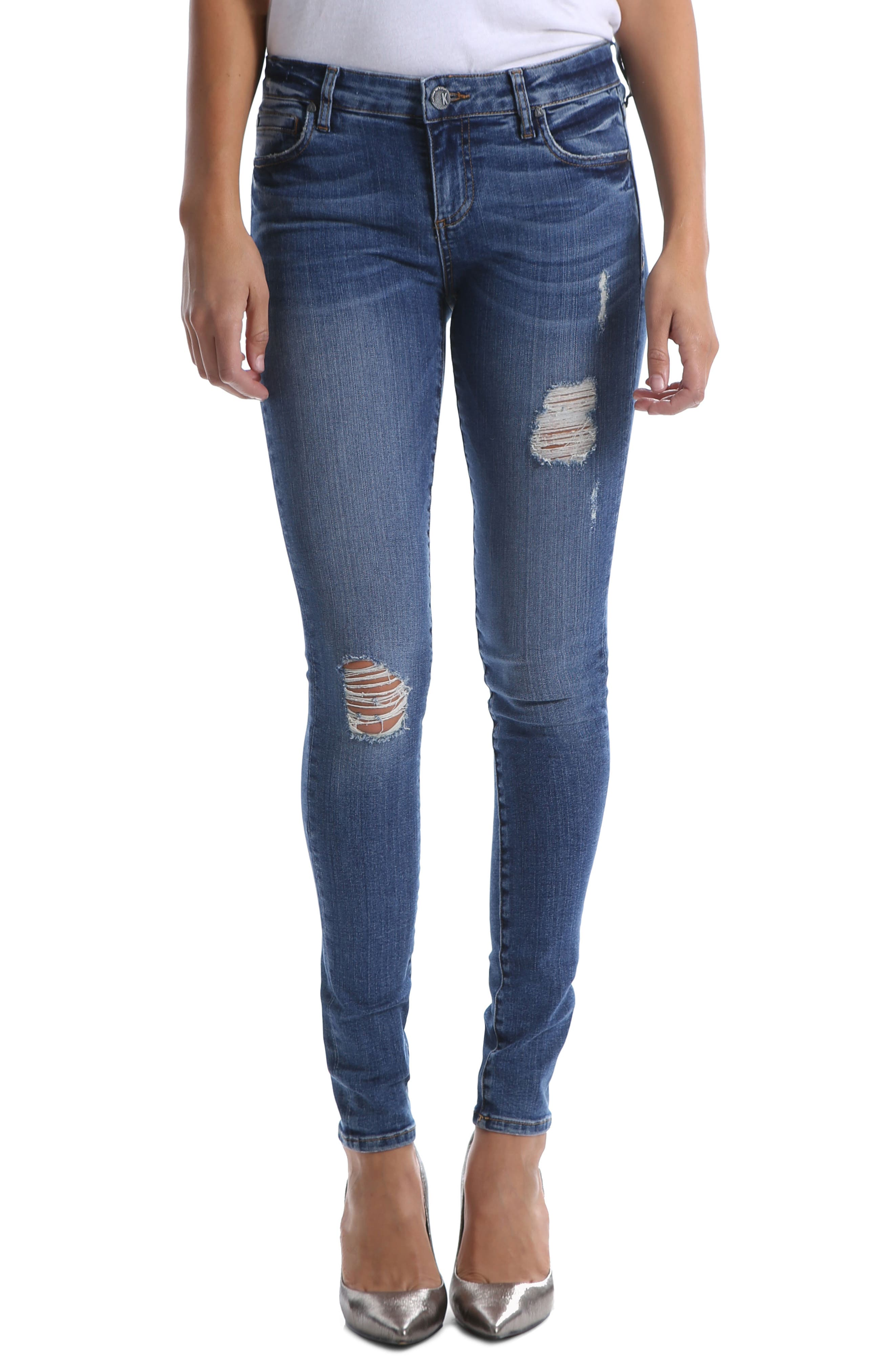 Kut From The Kloth Mia Ripped Toothpick Skinny Jeans