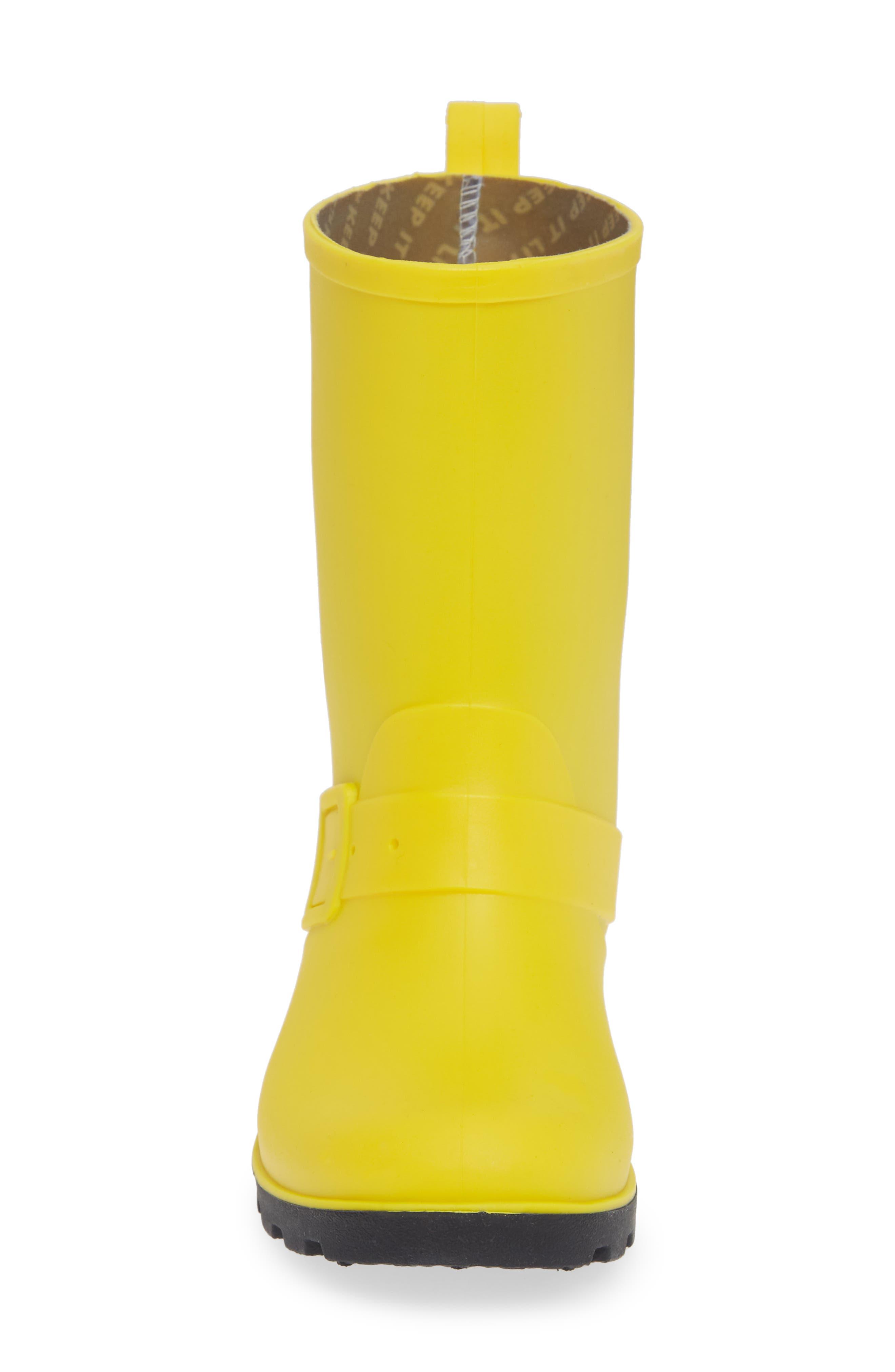 Native Barnett Rain Boot,                             Alternate thumbnail 4, color,                             CRAYON YELLOW/ JIFFY BLACK
