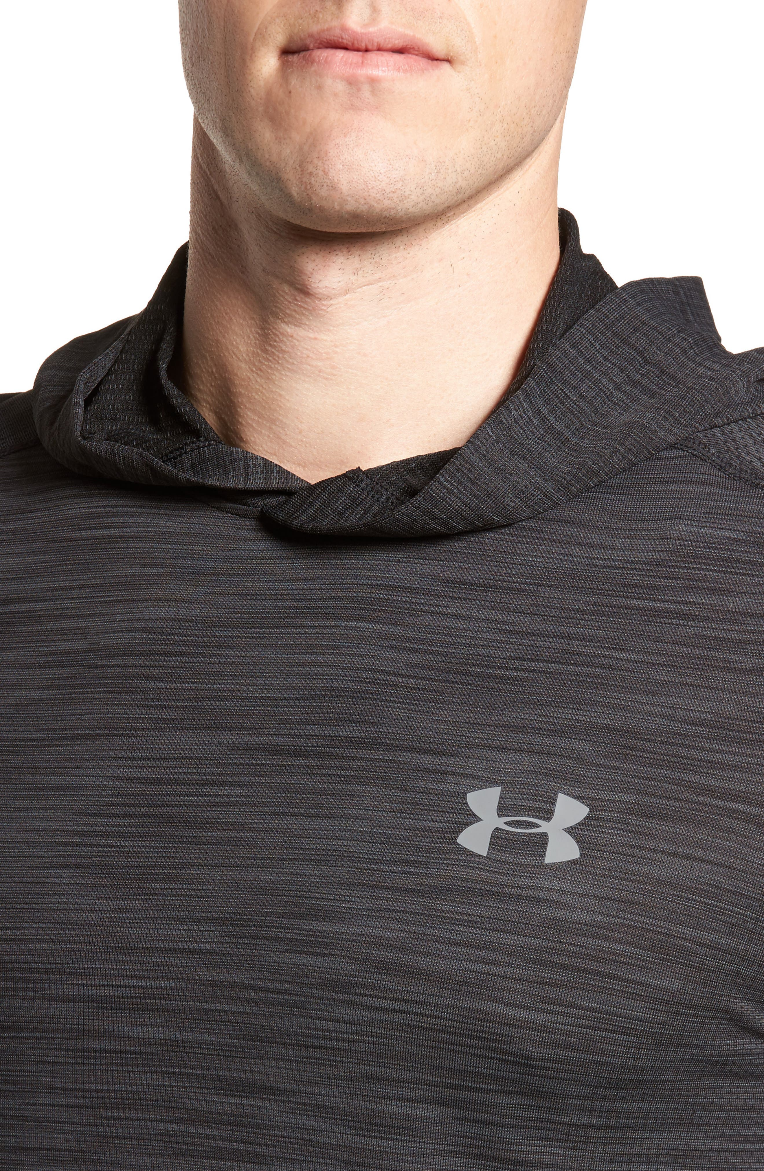 Threadbone Fitted Seamless Hoodie,                             Alternate thumbnail 4, color,                             001