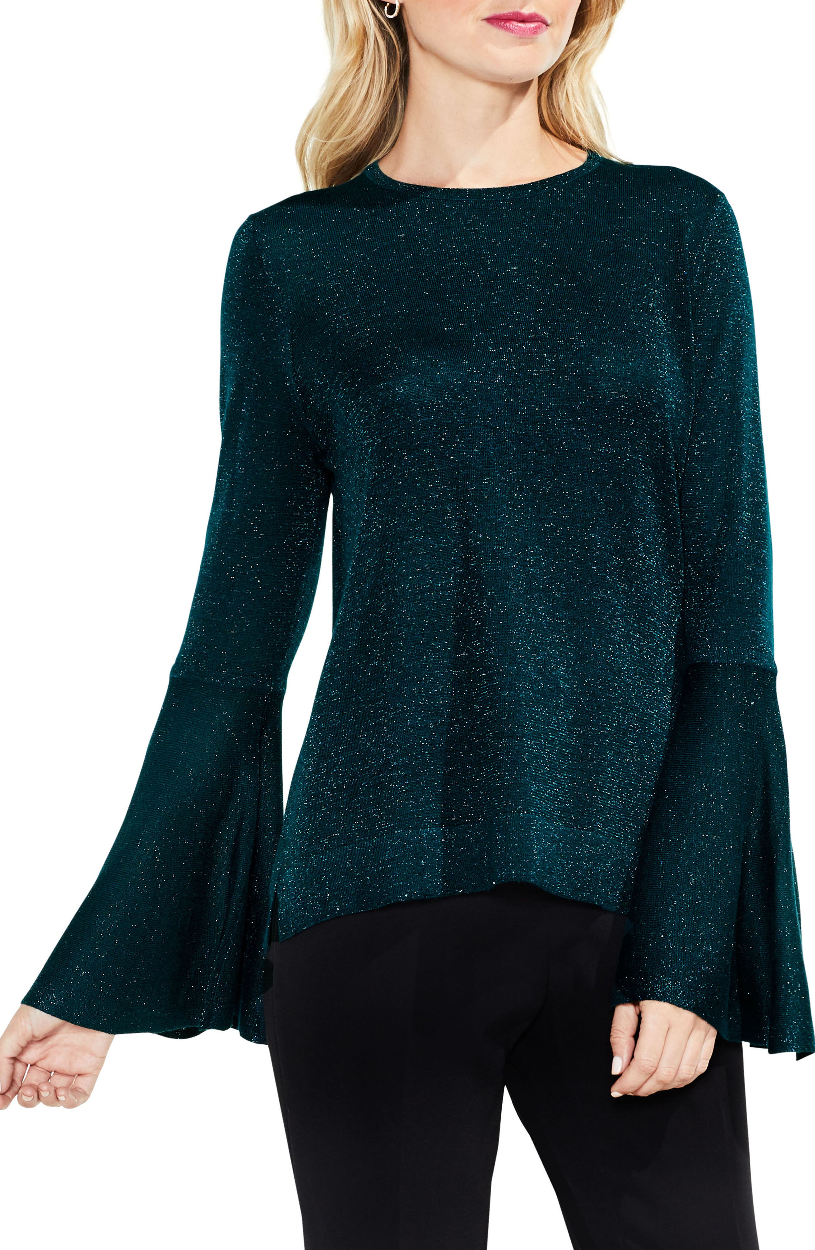 Bell Sleeve Sweater,                             Main thumbnail 4, color,