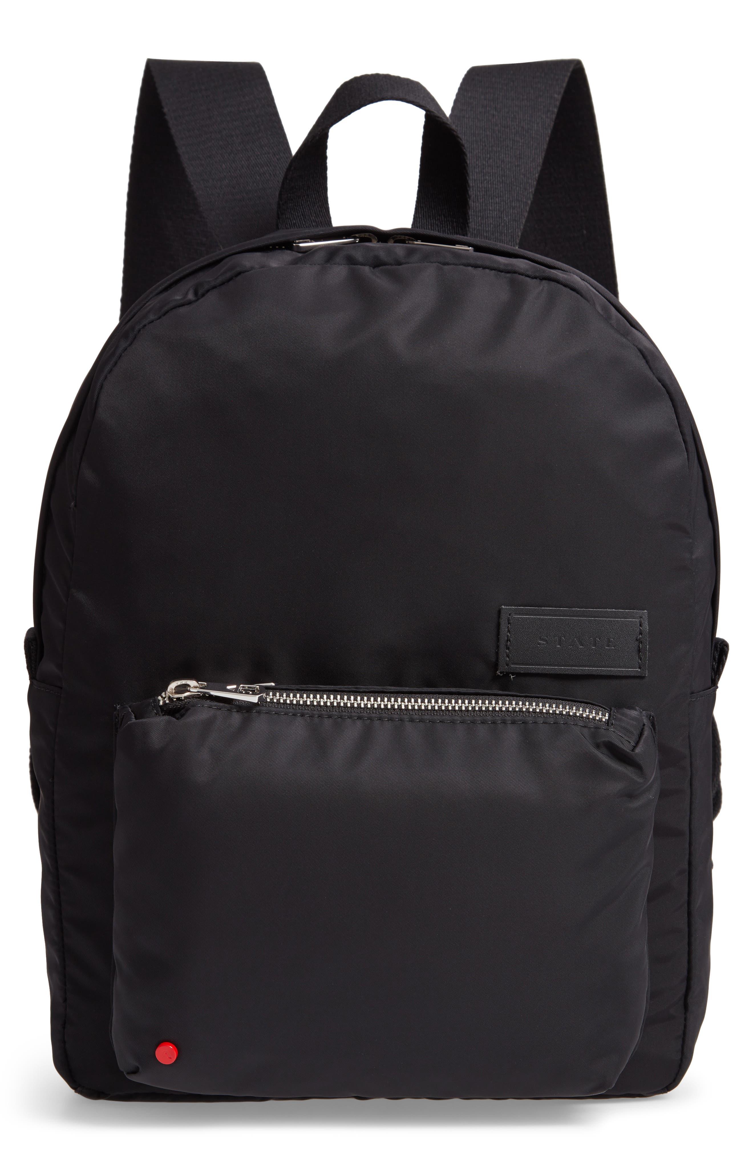 The Heights Mini Lorimer Nylon Backpack,                             Main thumbnail 1, color,                             BLACK