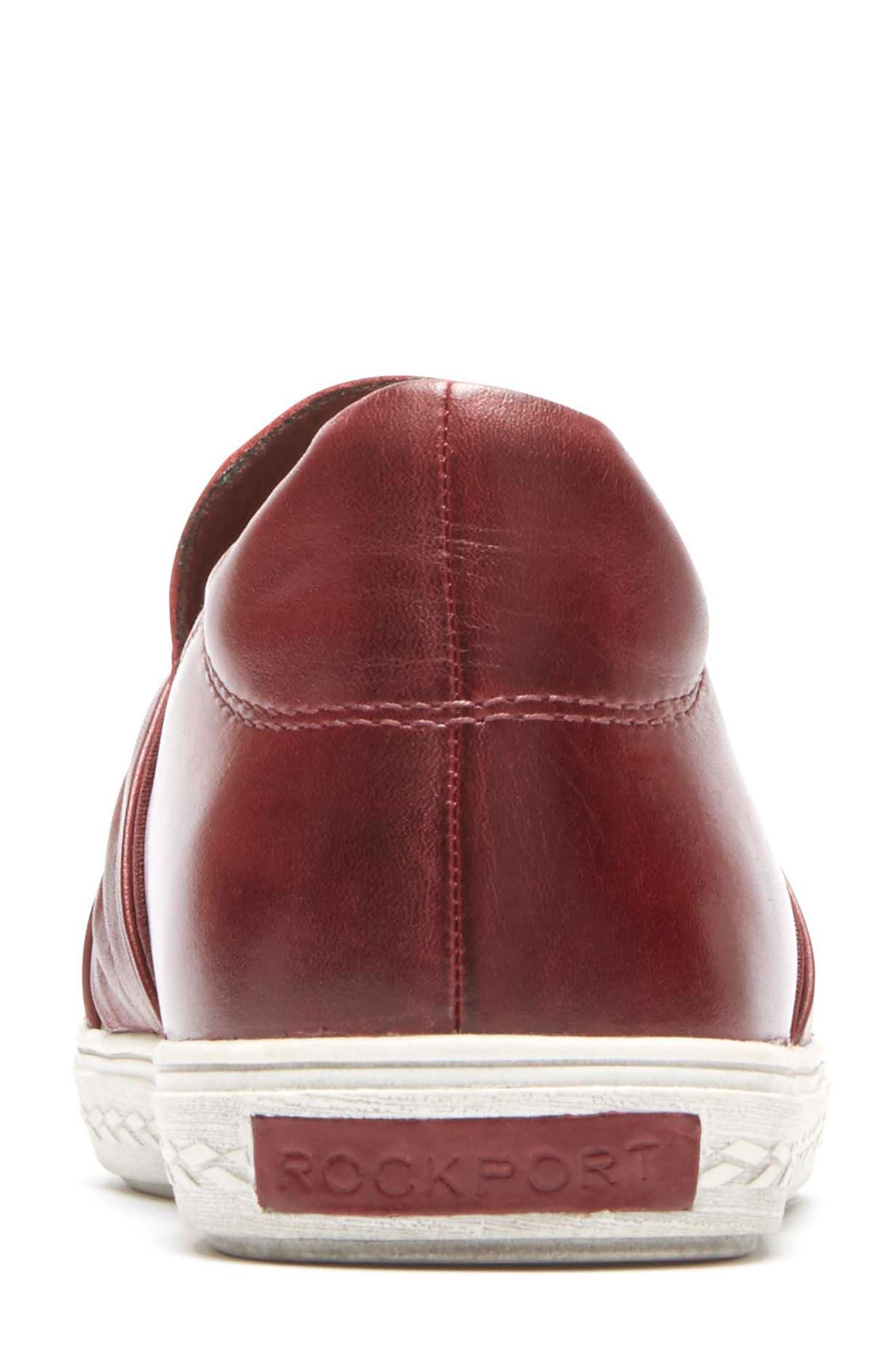 Willa Bow Slip-On,                             Alternate thumbnail 7, color,                             WINE LEATHER