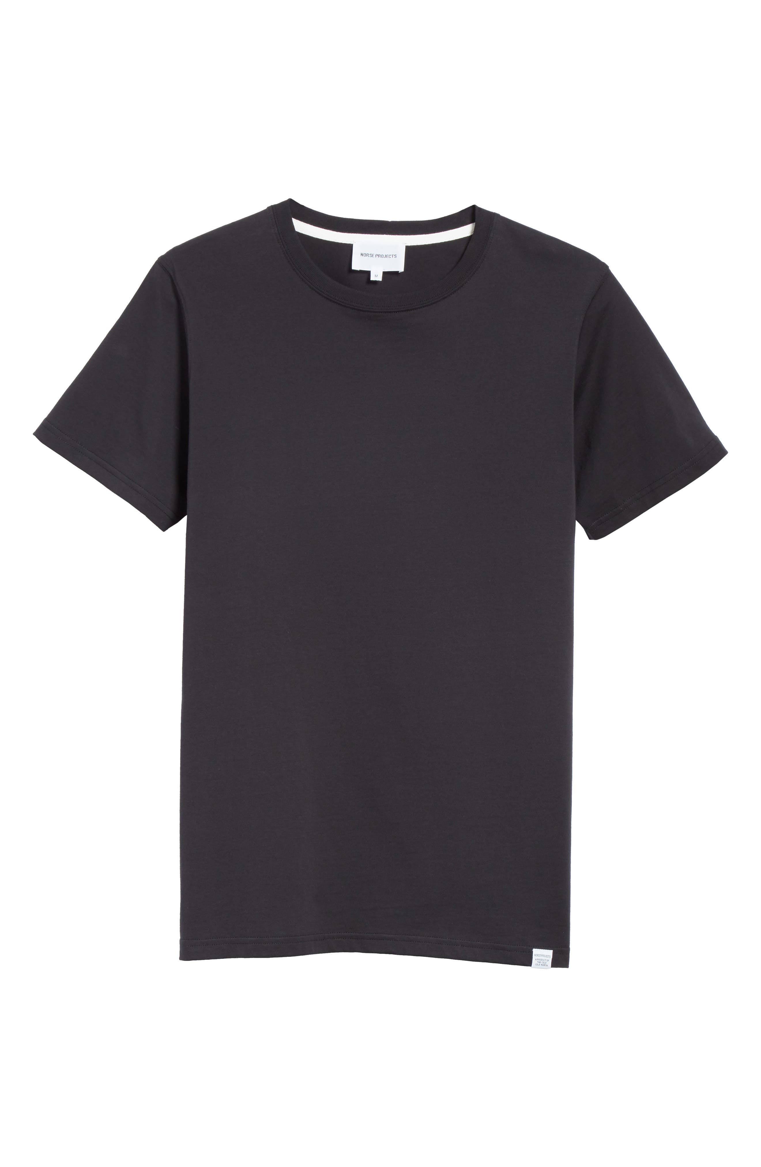 Niels Crewneck T-Shirt,                             Alternate thumbnail 6, color,                             001