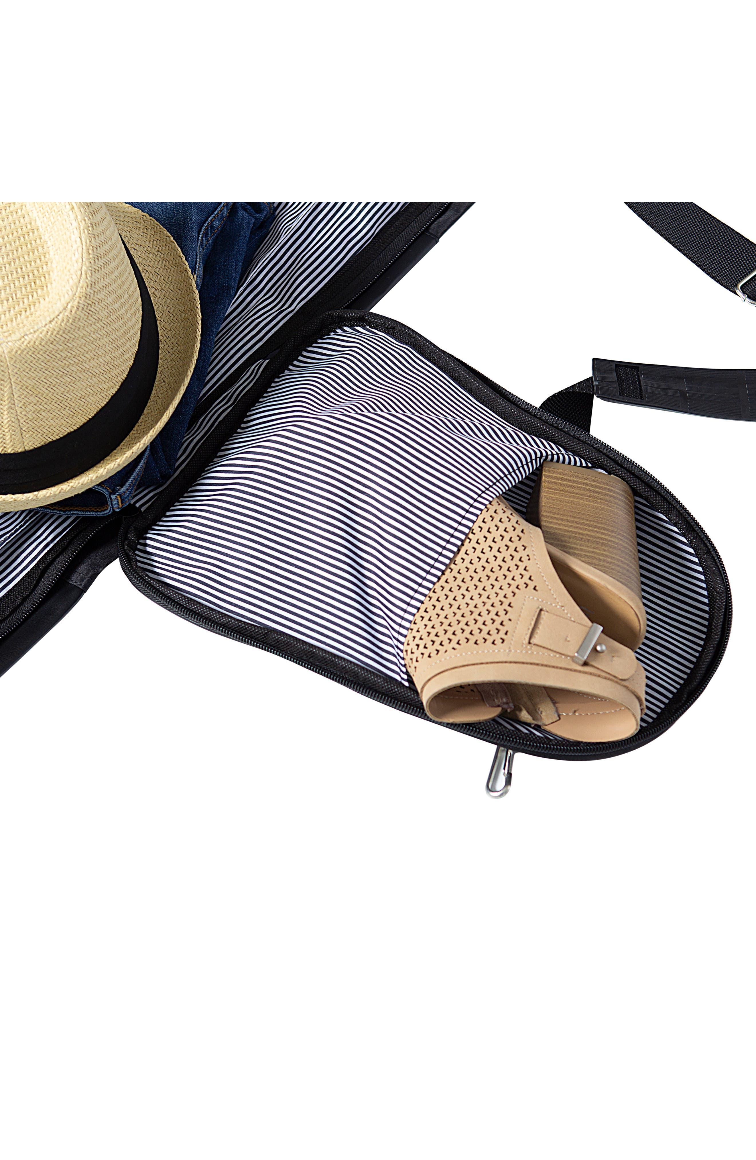 Monogram Duffel/Garment Bag,                             Alternate thumbnail 9, color,                             BLACK