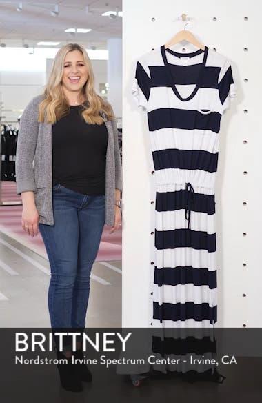 Drawstring V-Neck Jersey Maxi Dress, sales video thumbnail