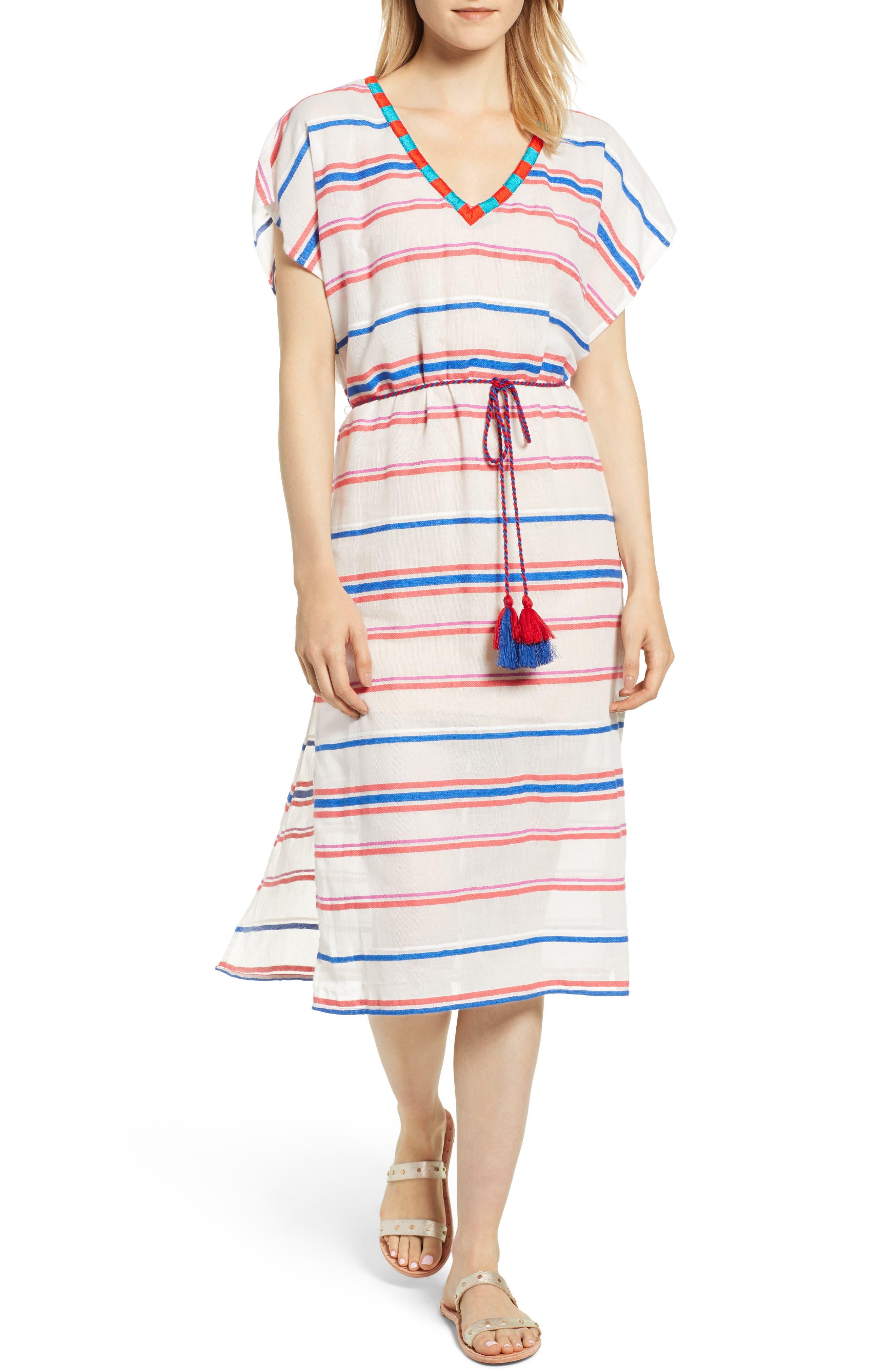 Stripe Caftan Dress,                             Main thumbnail 1, color,                             196