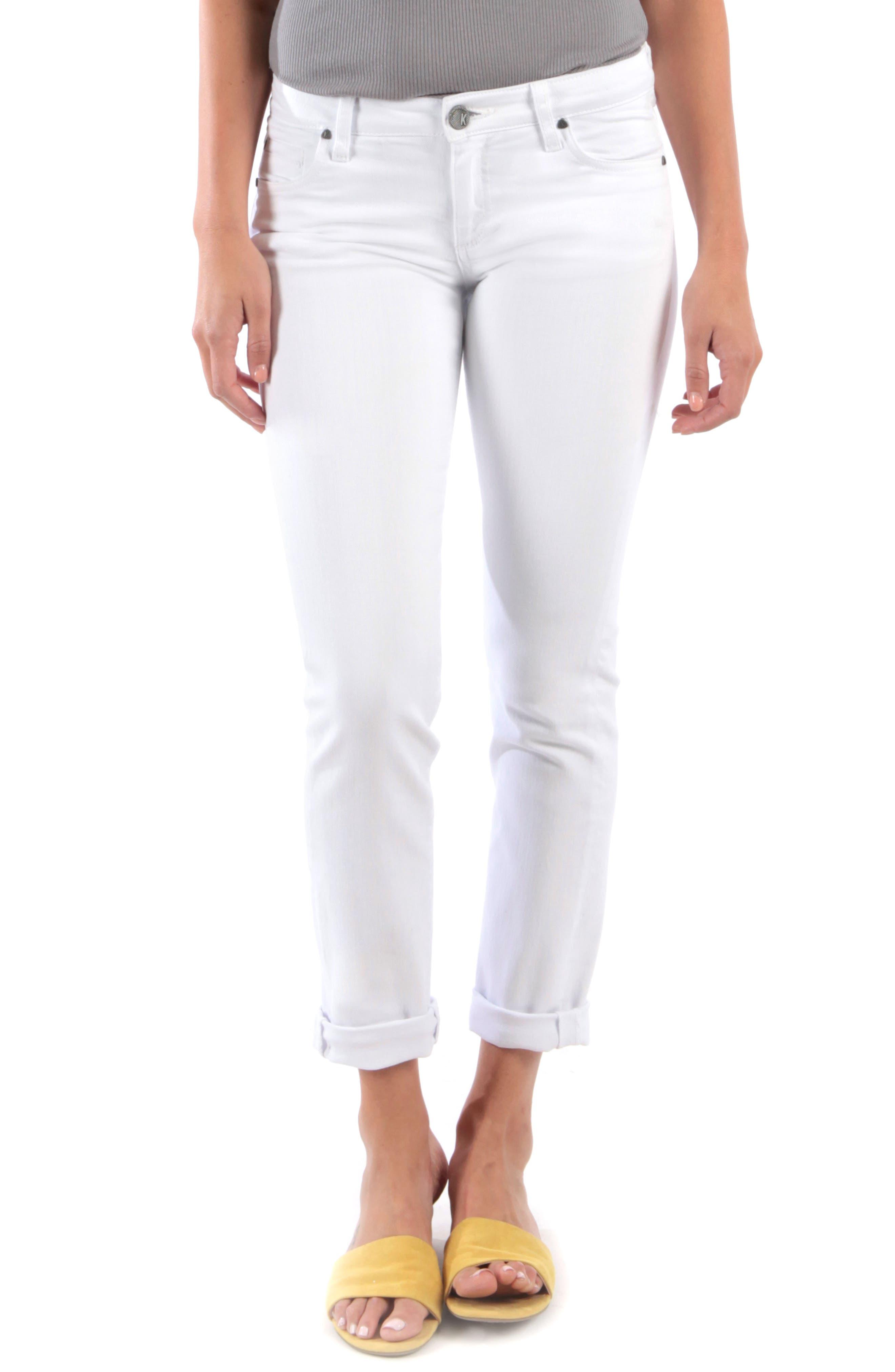 Kut From The Kloth Catherine Boyfriend Jeans, White