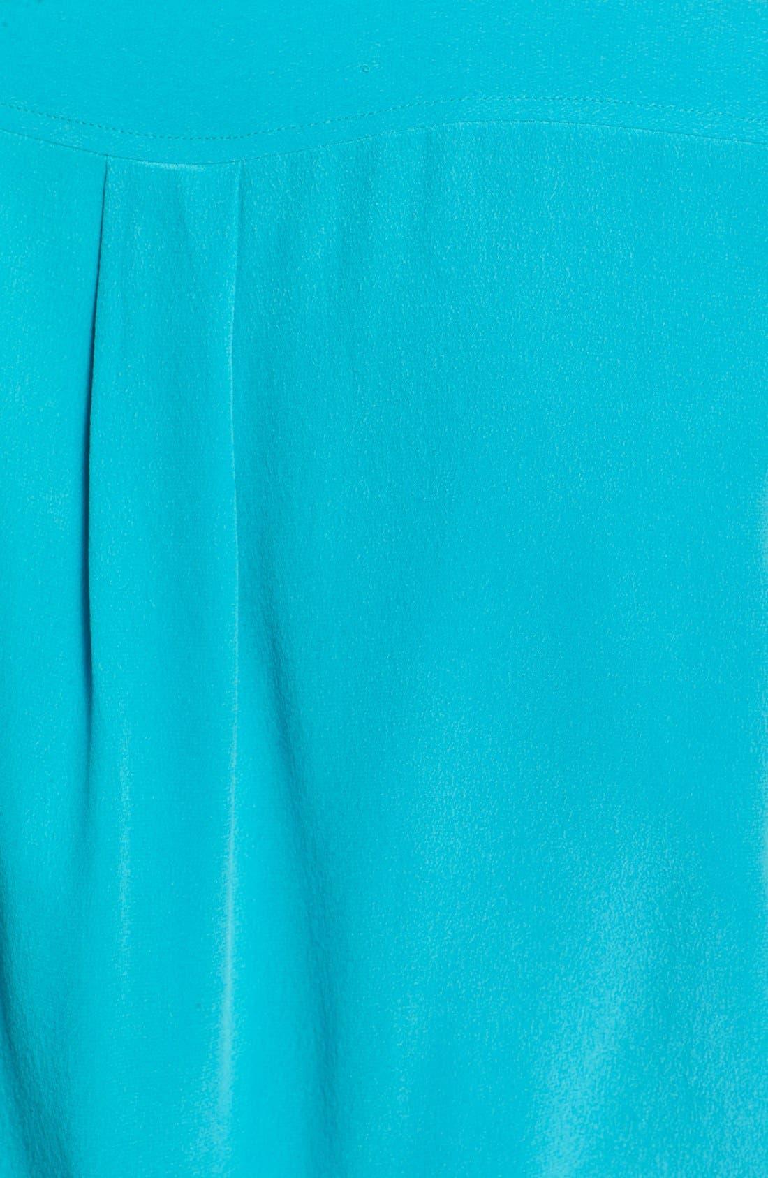 'Slim Signature' Sleeveless Silk Shirt,                             Alternate thumbnail 72, color,