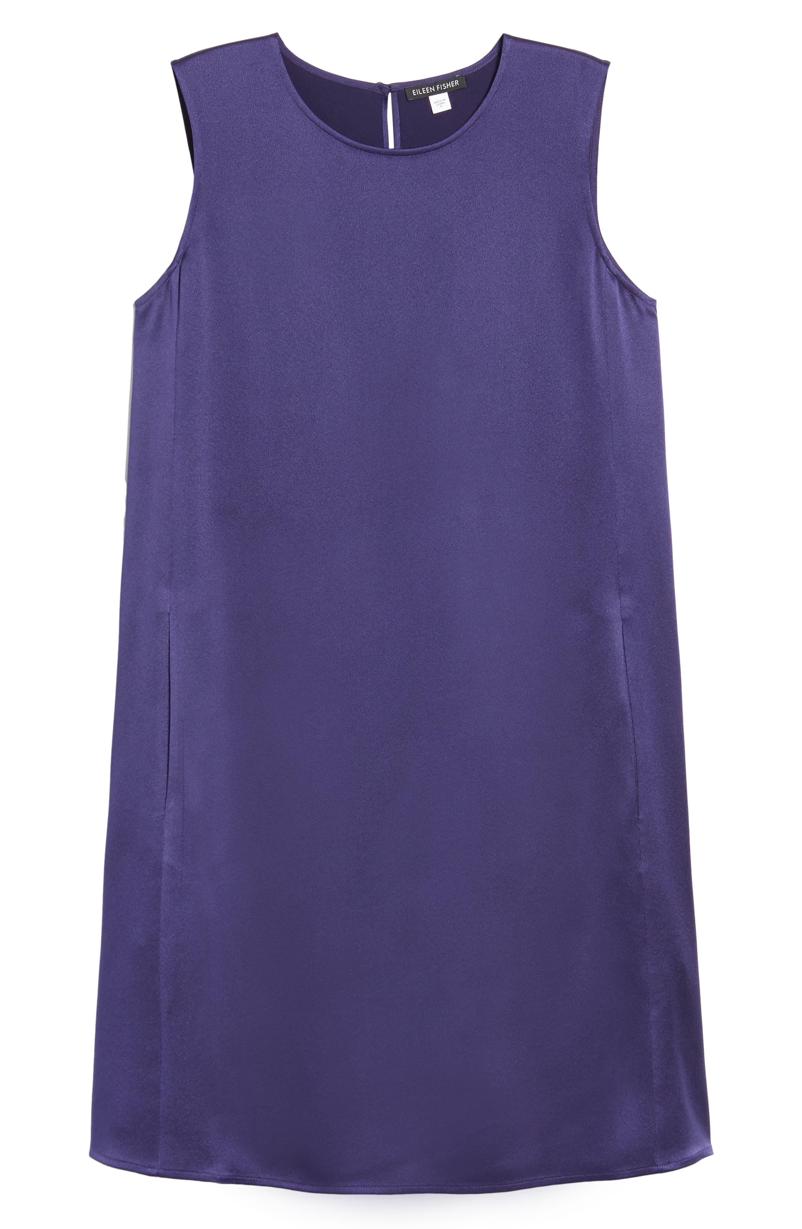 Silk Shift Dress,                             Alternate thumbnail 17, color,