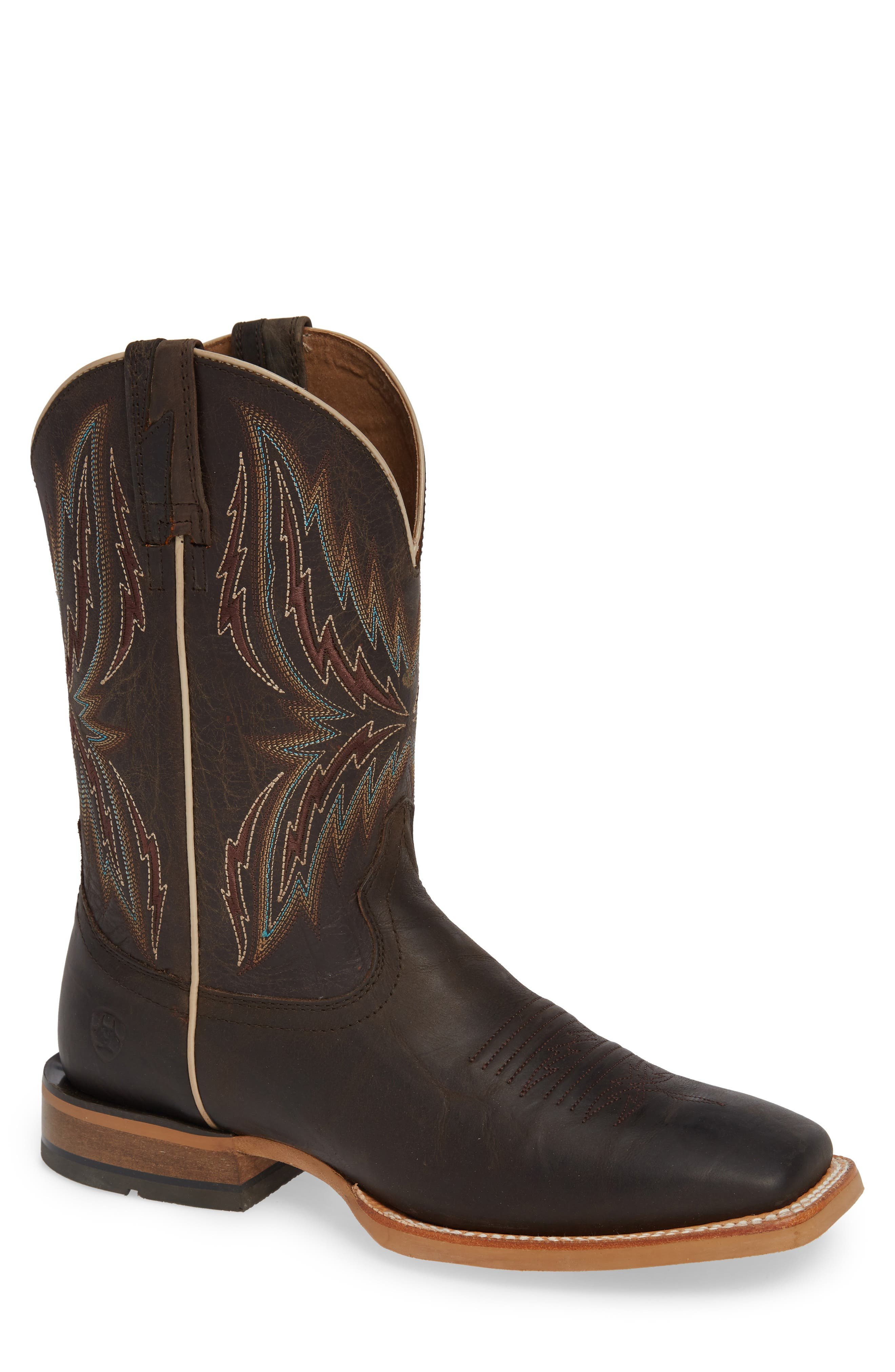 Arena Rebound Cowboy Boot,                             Main thumbnail 1, color,                             BROWN/ DESERT LEATHER