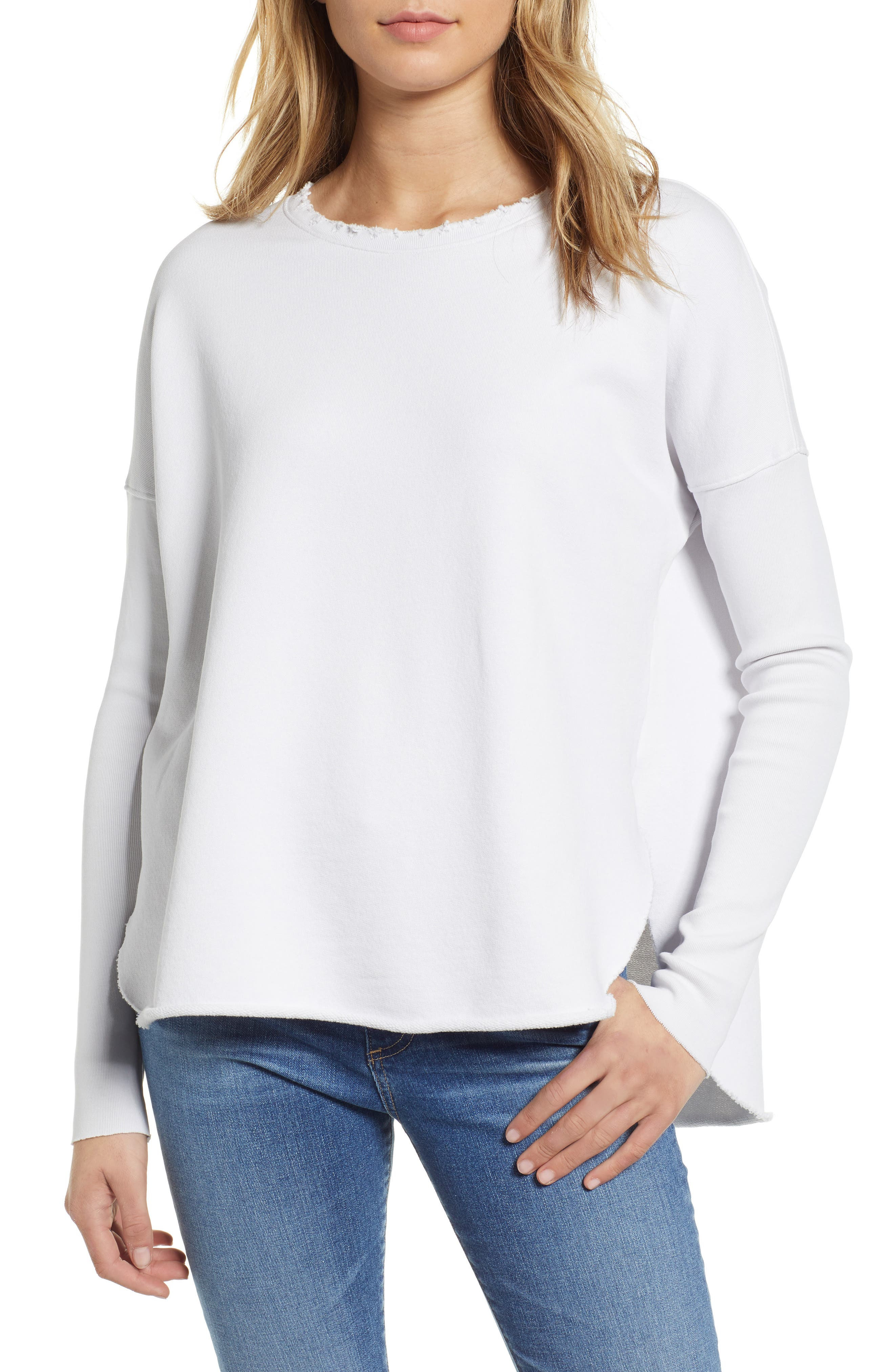 FRANK & EILEEN Tee Lab Relaxed Sweatshirt in Dirty White