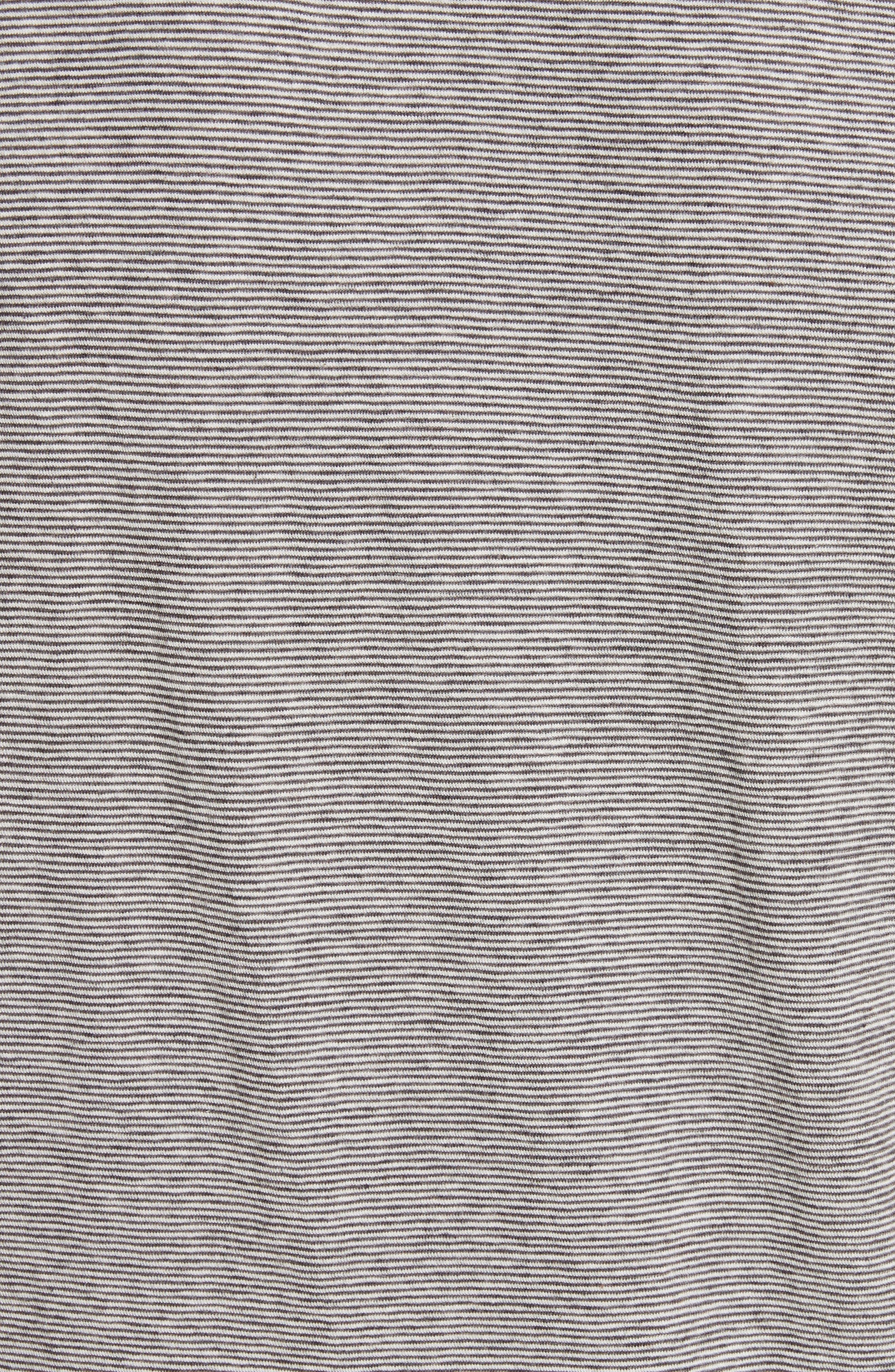 Microstripe Pocket T-Shirt,                             Alternate thumbnail 5, color,                             104