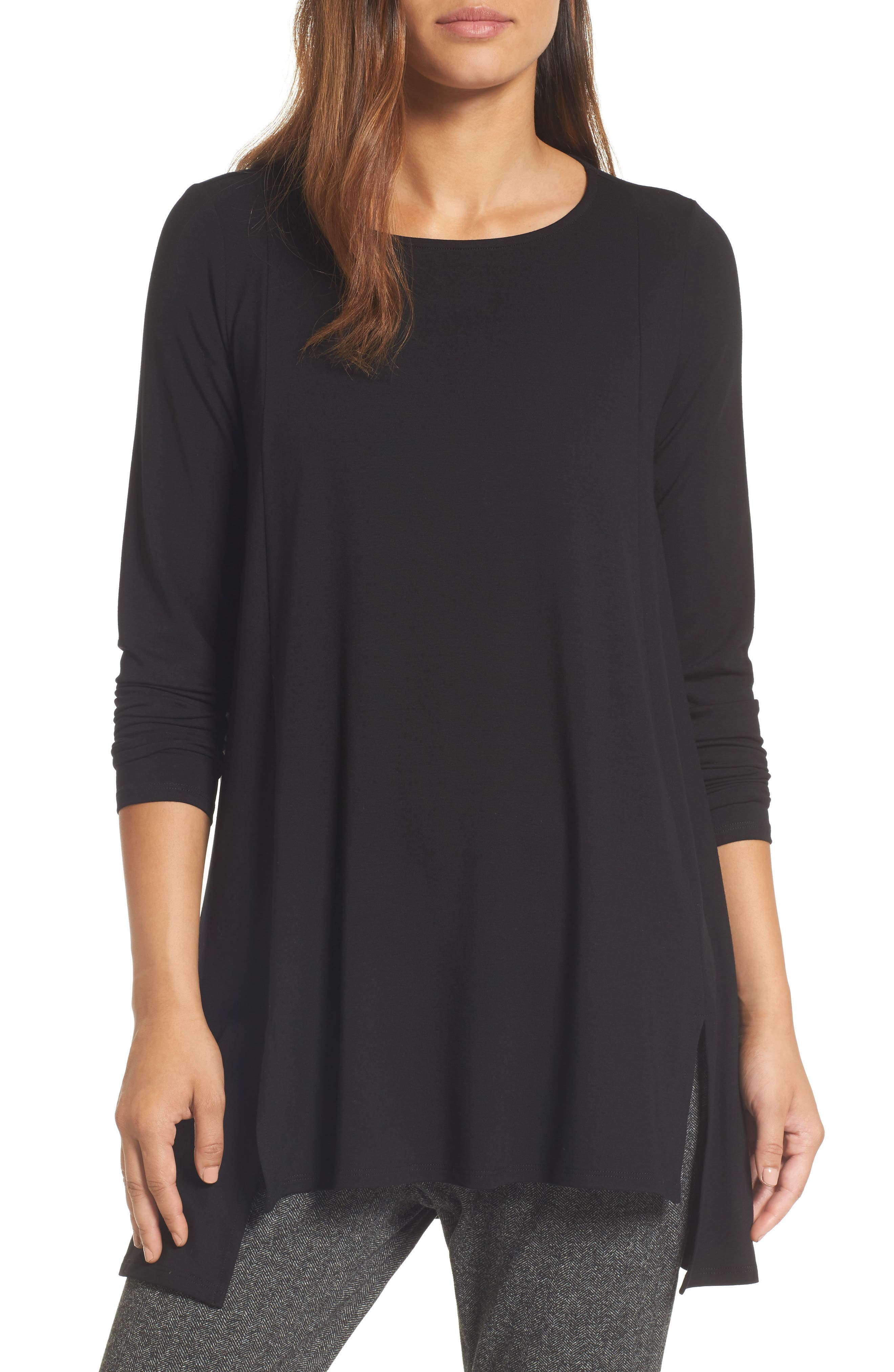 Scoop Neck Tunic,                         Main,                         color, 001