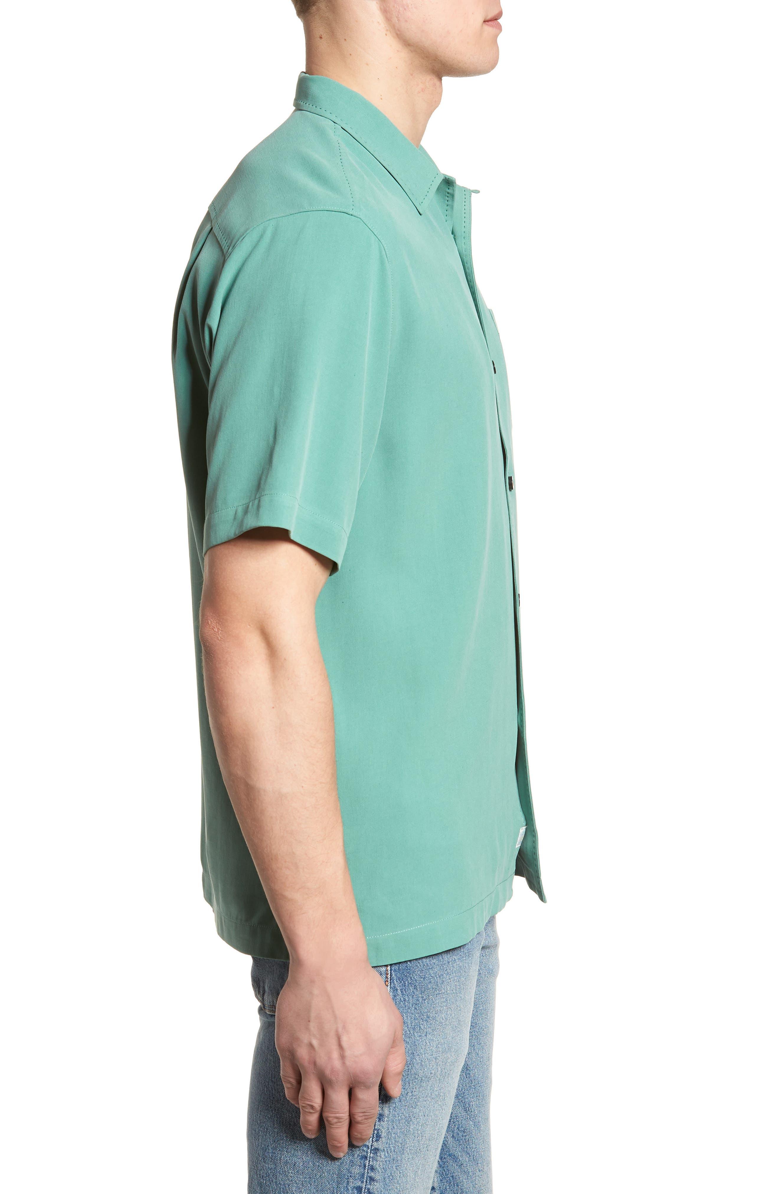 'Catalina Twill' Original Fit Silk Camp Shirt,                             Alternate thumbnail 3, color,                             306