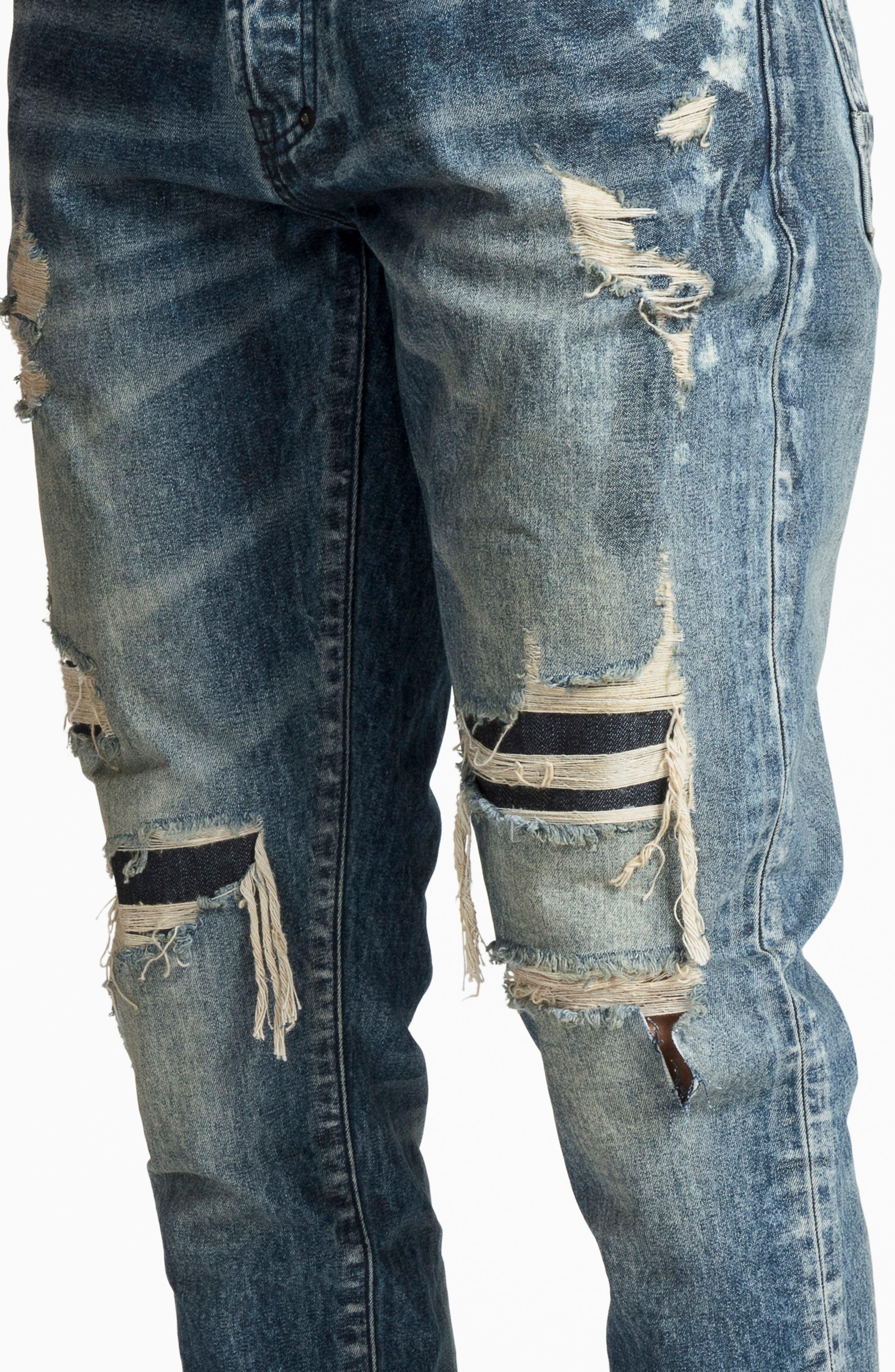 Le Sabre Slim Fit Jeans,                             Alternate thumbnail 4, color,                             MELODIC