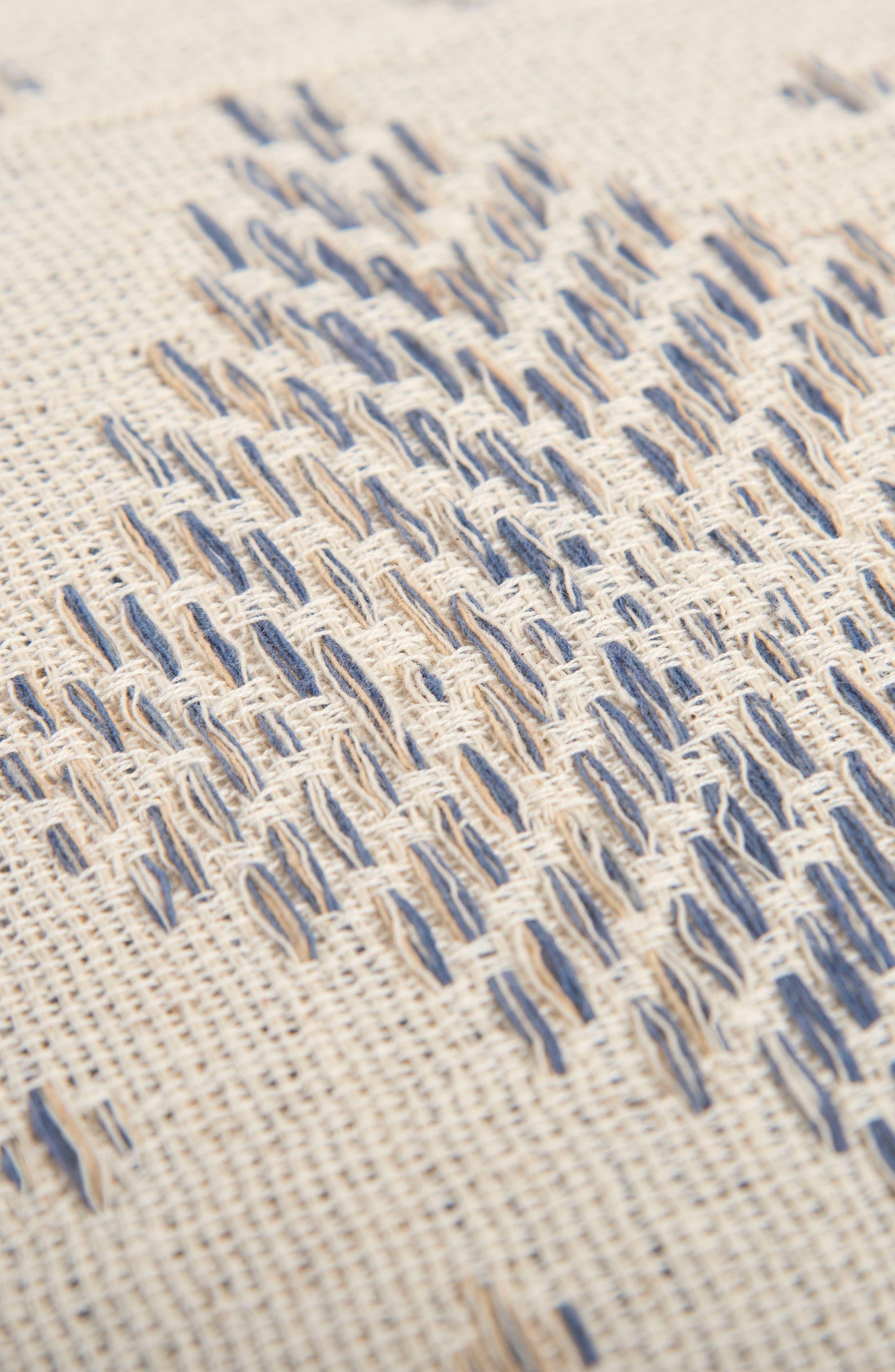 Woven Diamond Accent Pillow,                             Alternate thumbnail 2, color,