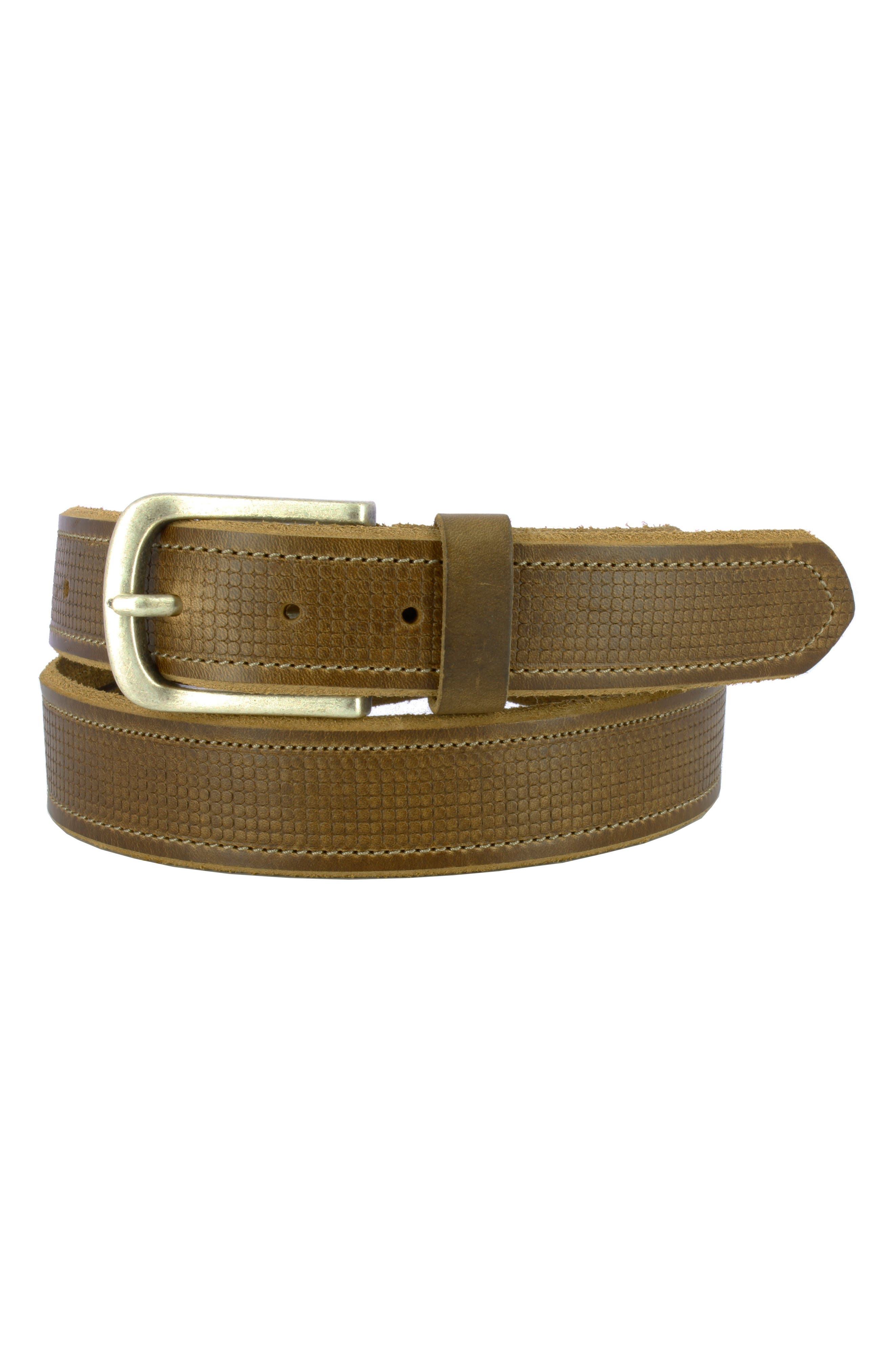 Remo Tulliani Sixx 2 Horween Leather Belt, Tan
