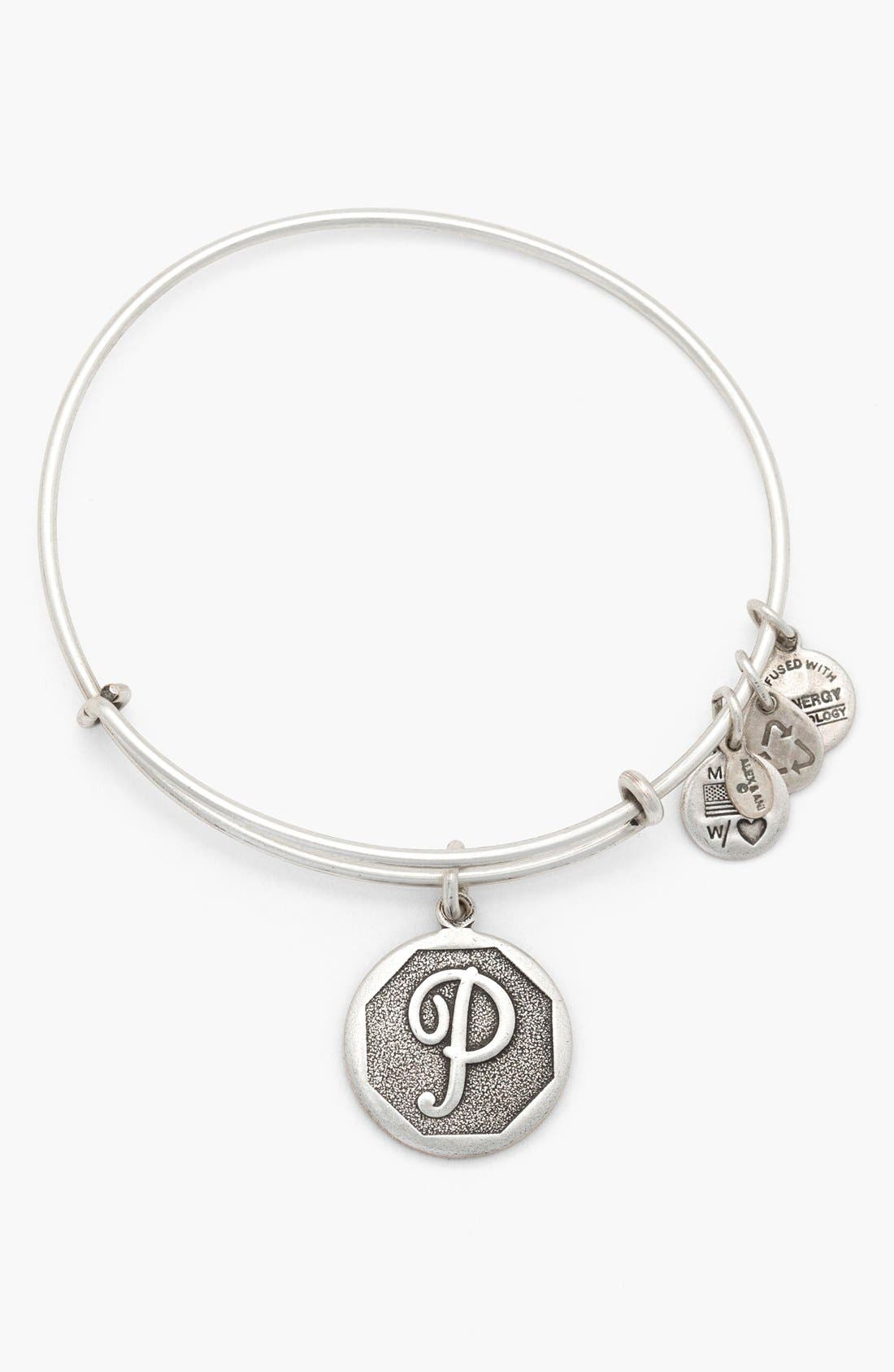 'Initial' Adjustable Wire Bangle,                             Main thumbnail 16, color,