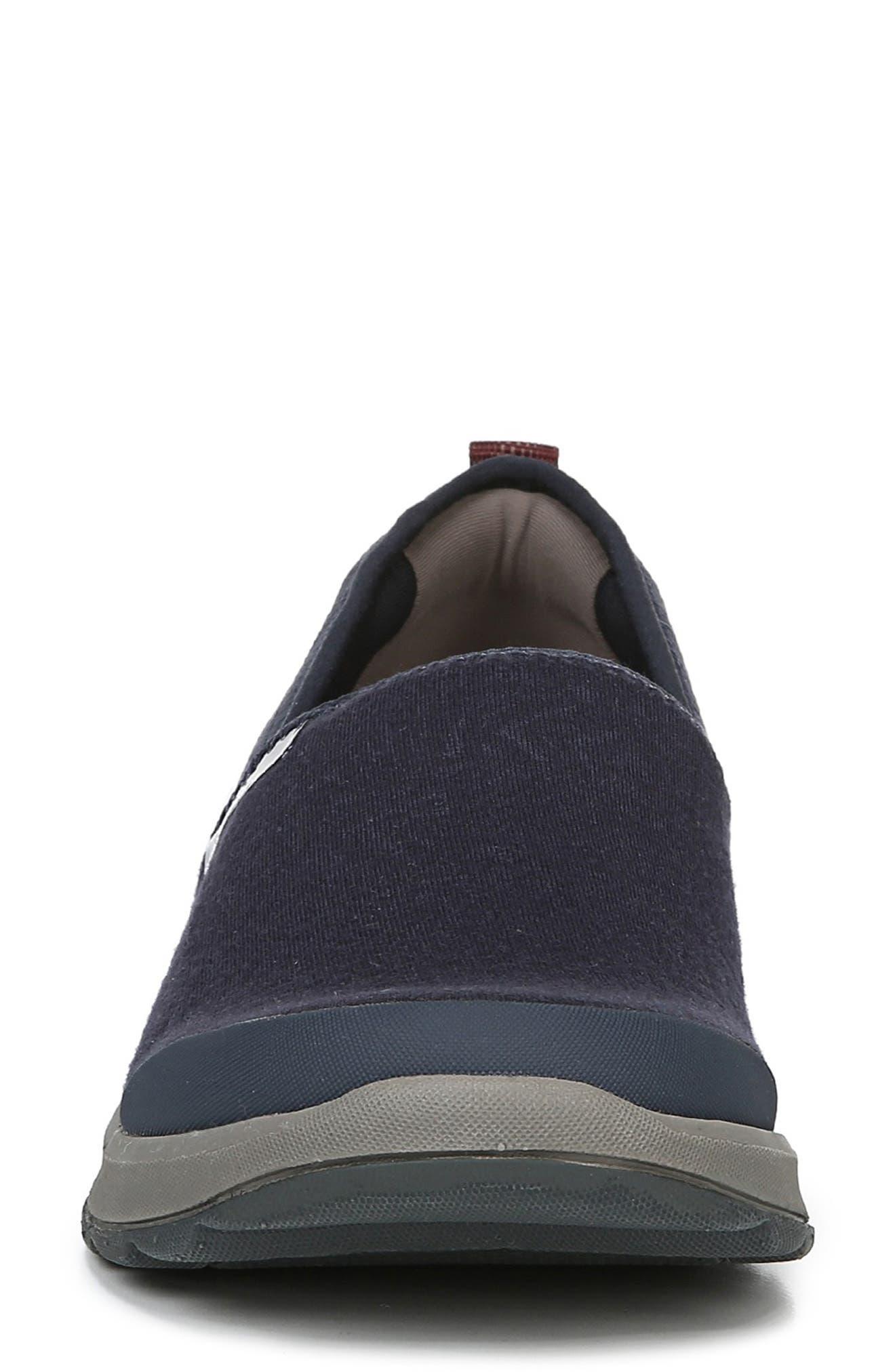 Glee Slip-On Sneaker,                             Alternate thumbnail 4, color,                             NAVY GEO FABRIC