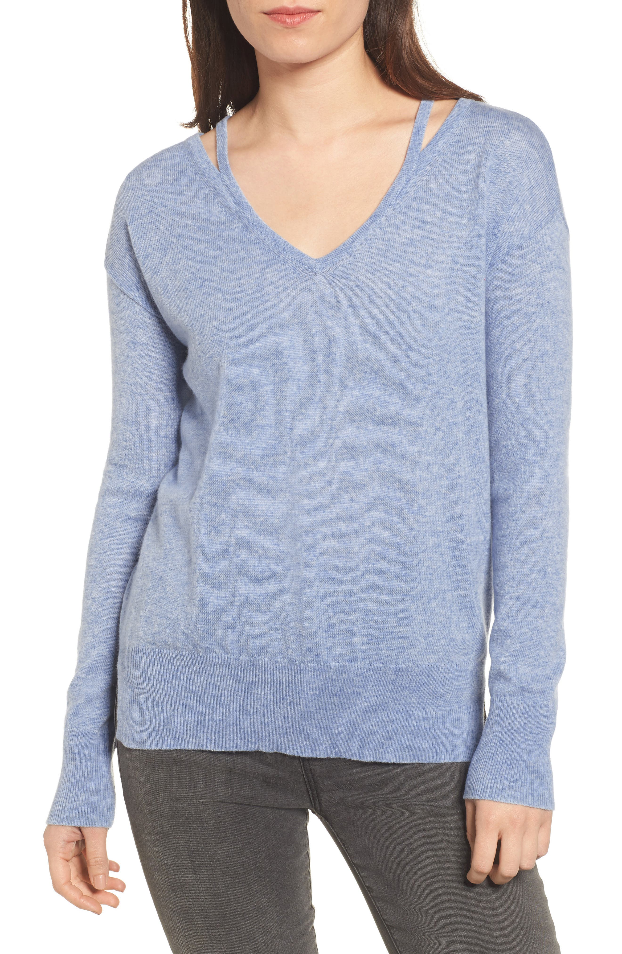 Kenley Wool & Cashmere Sweater,                             Main thumbnail 1, color,                             400