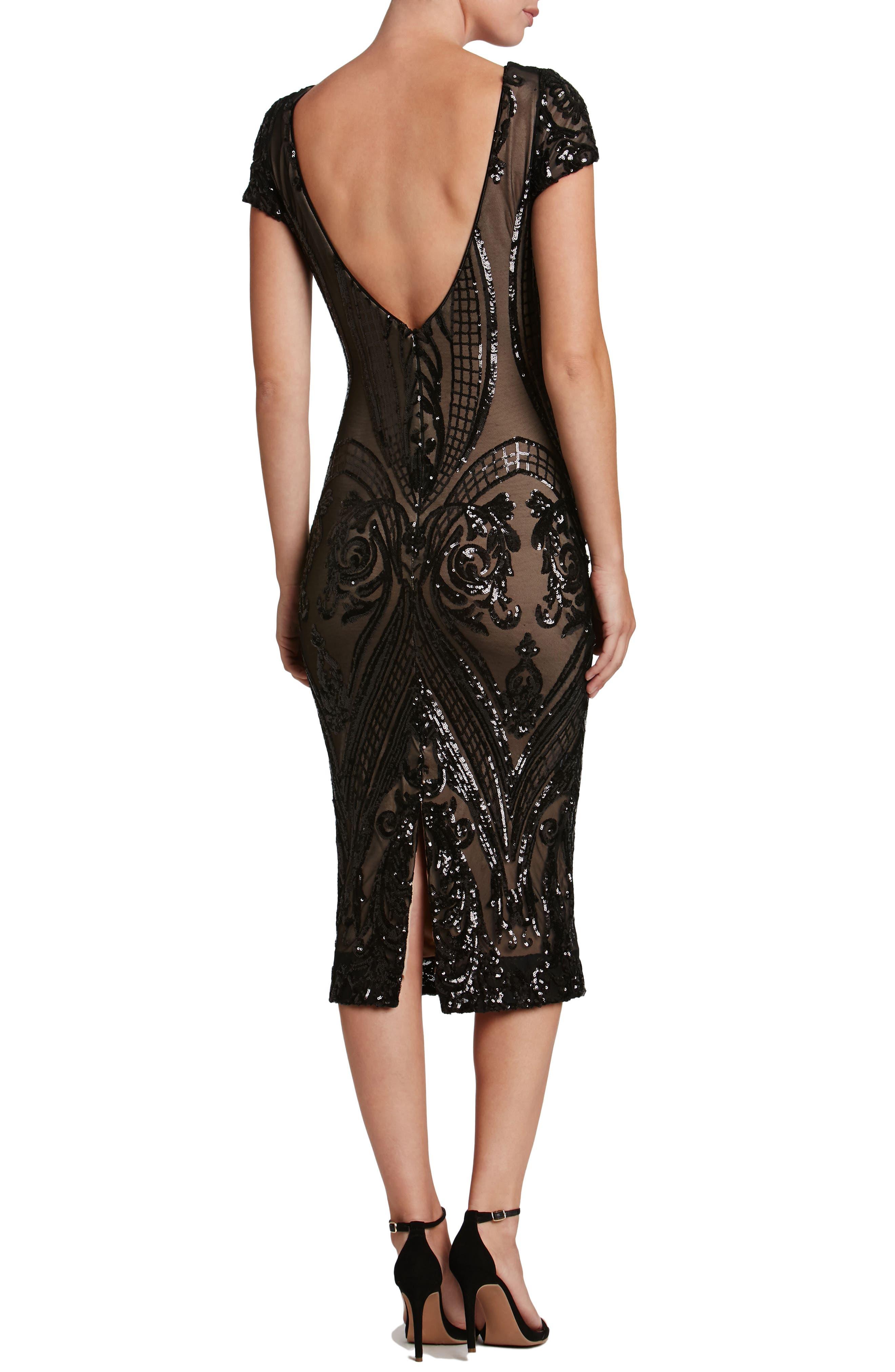 Brandi Sequin Body-Con Dress,                             Alternate thumbnail 2, color,                             002