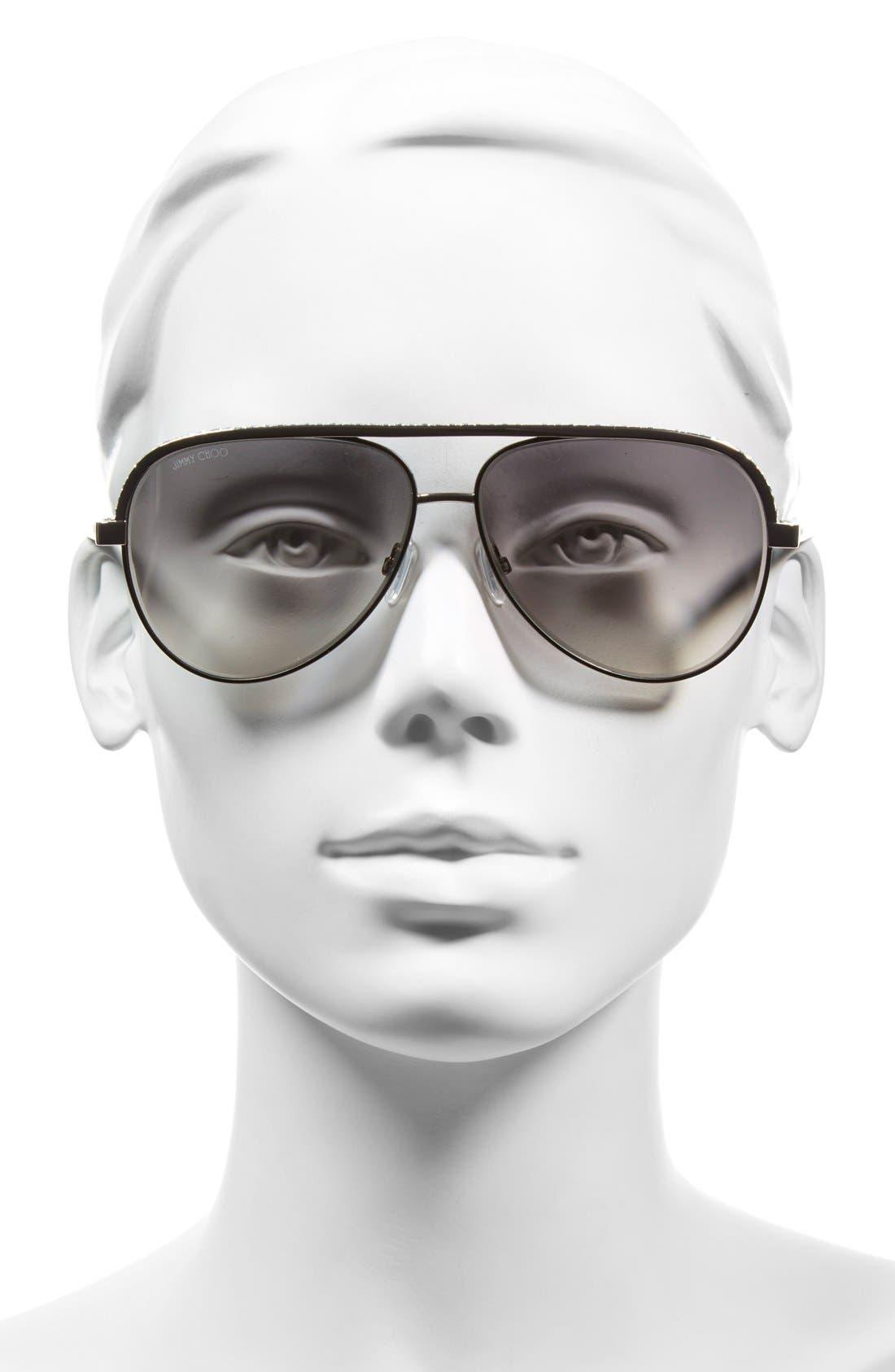 'Linas' 59mm Aviator Sunglasses,                             Alternate thumbnail 4, color,
