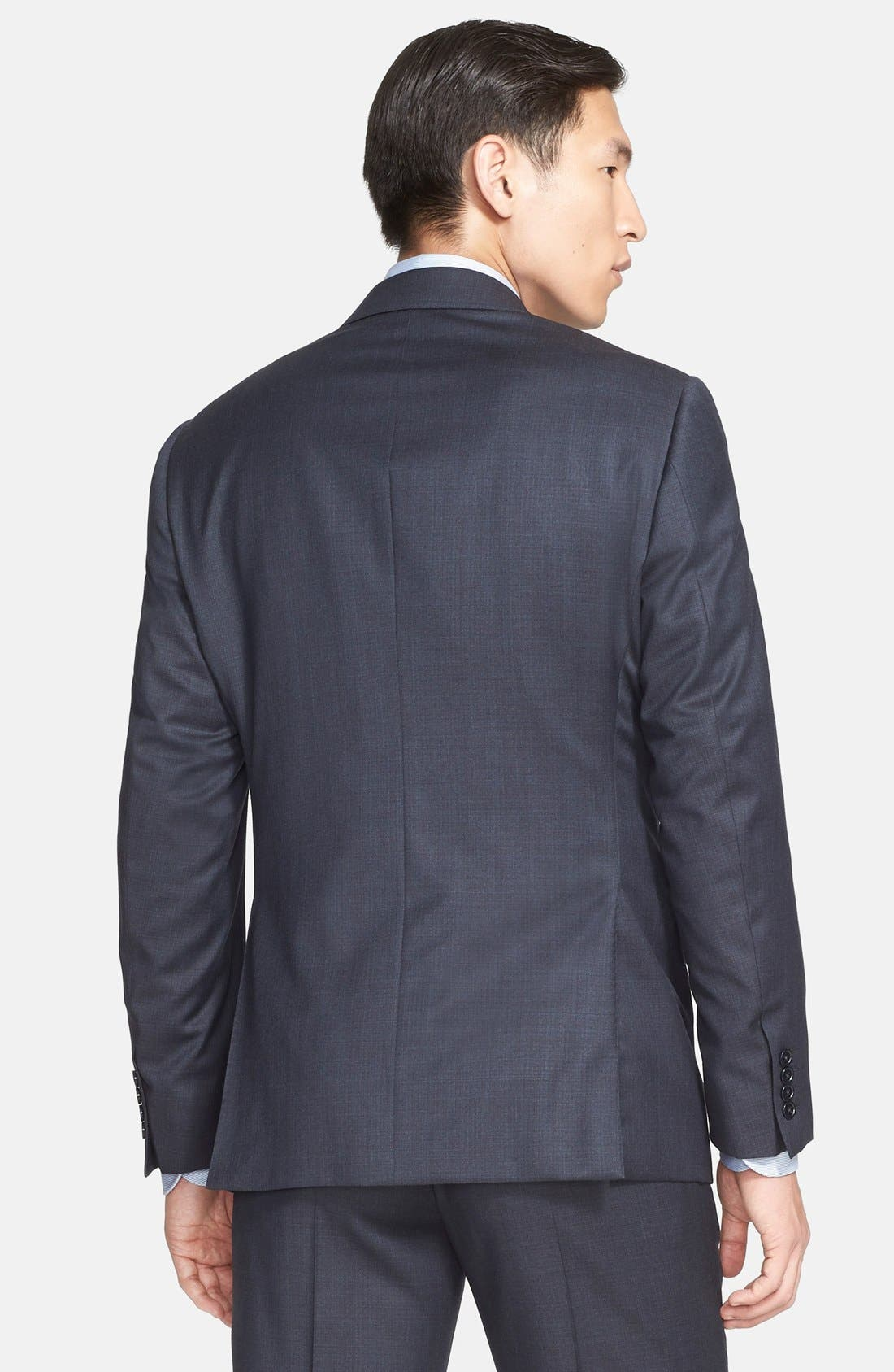 'G-Line' Trim Fit Solid Wool Suit,                             Alternate thumbnail 4, color,                             410