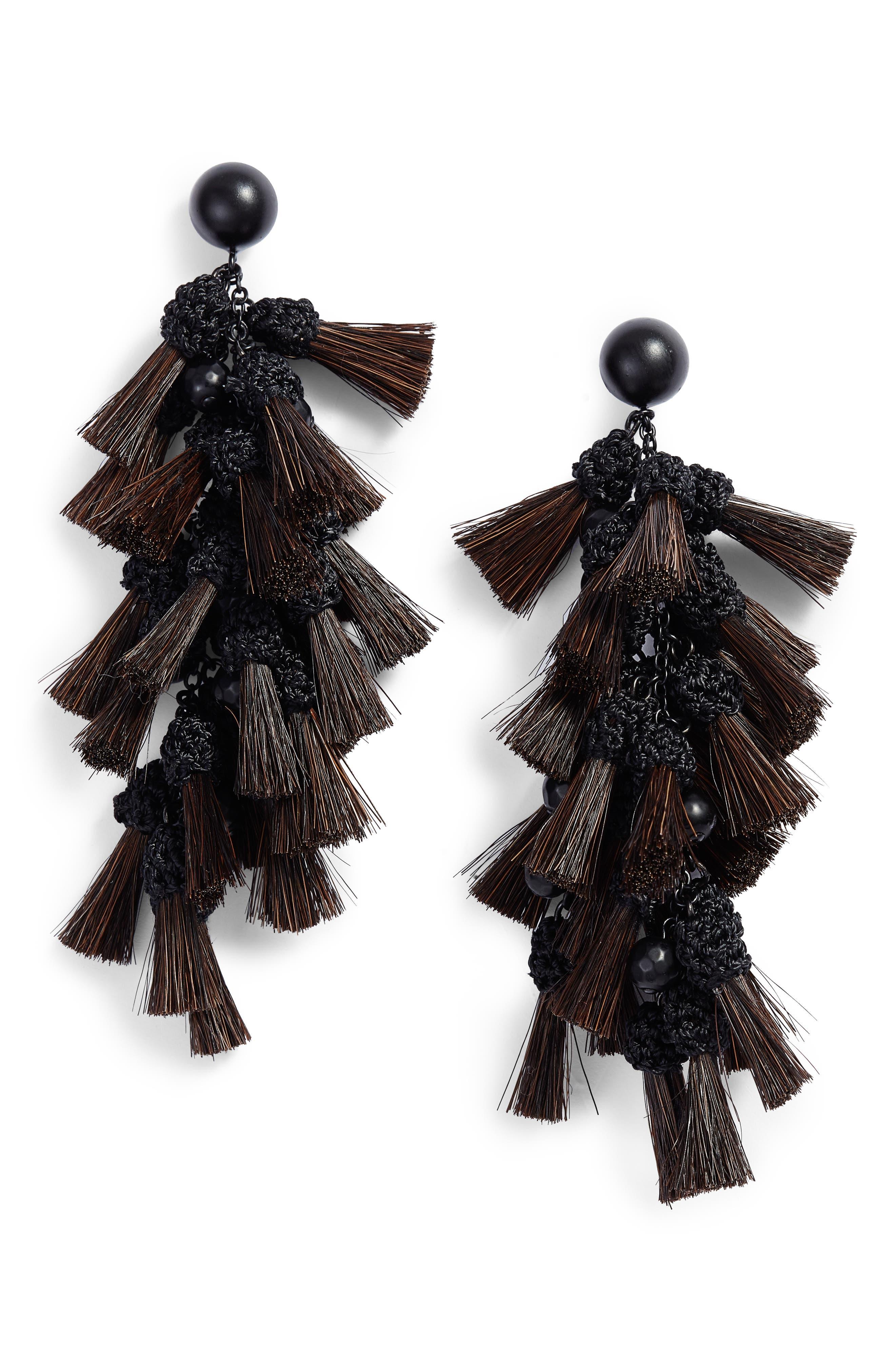 Tassel Drop Earrings,                         Main,                         color, 010