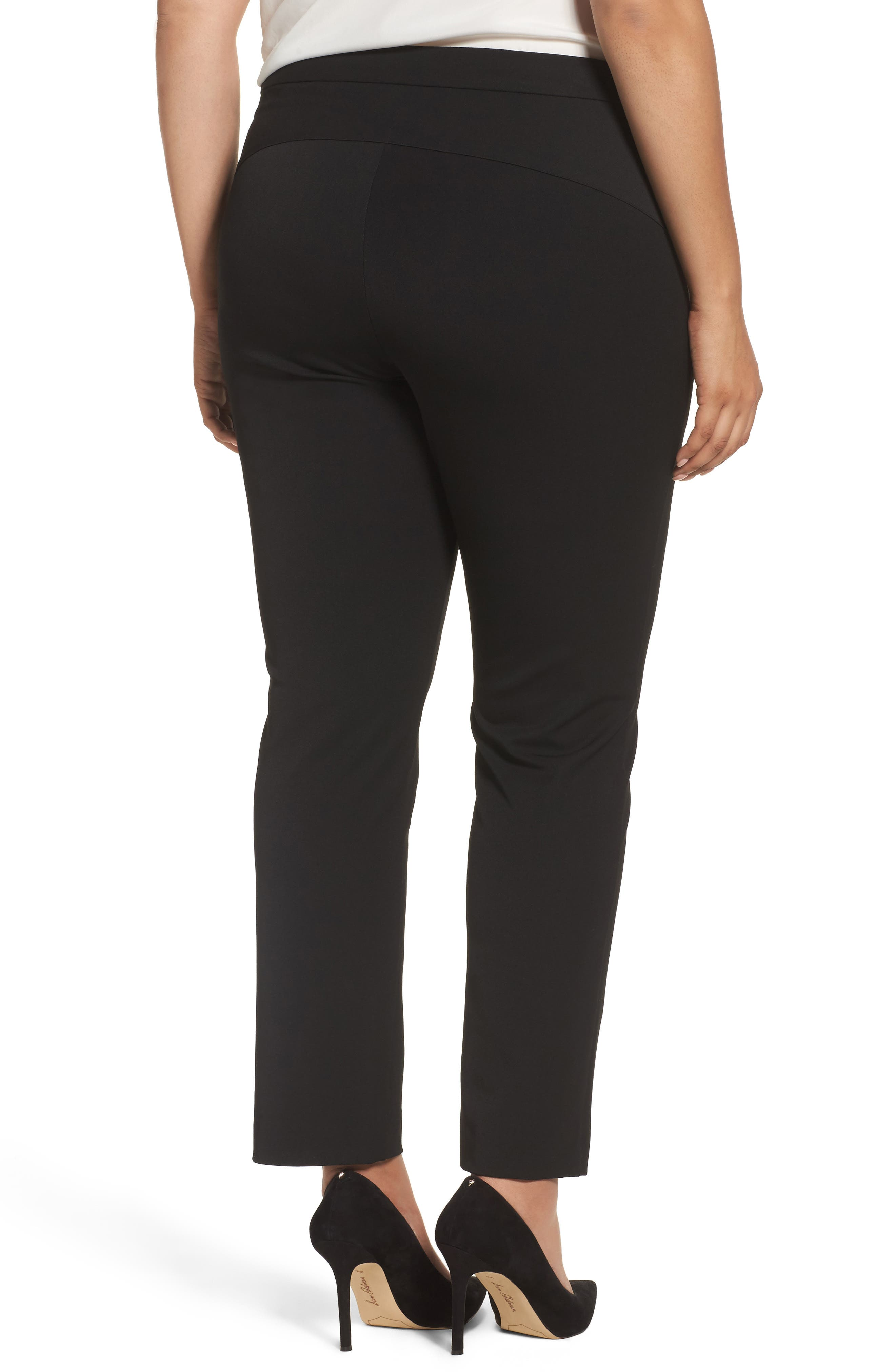 Stretch Twill Seamed Pants,                             Alternate thumbnail 2, color,                             RICH BLACK