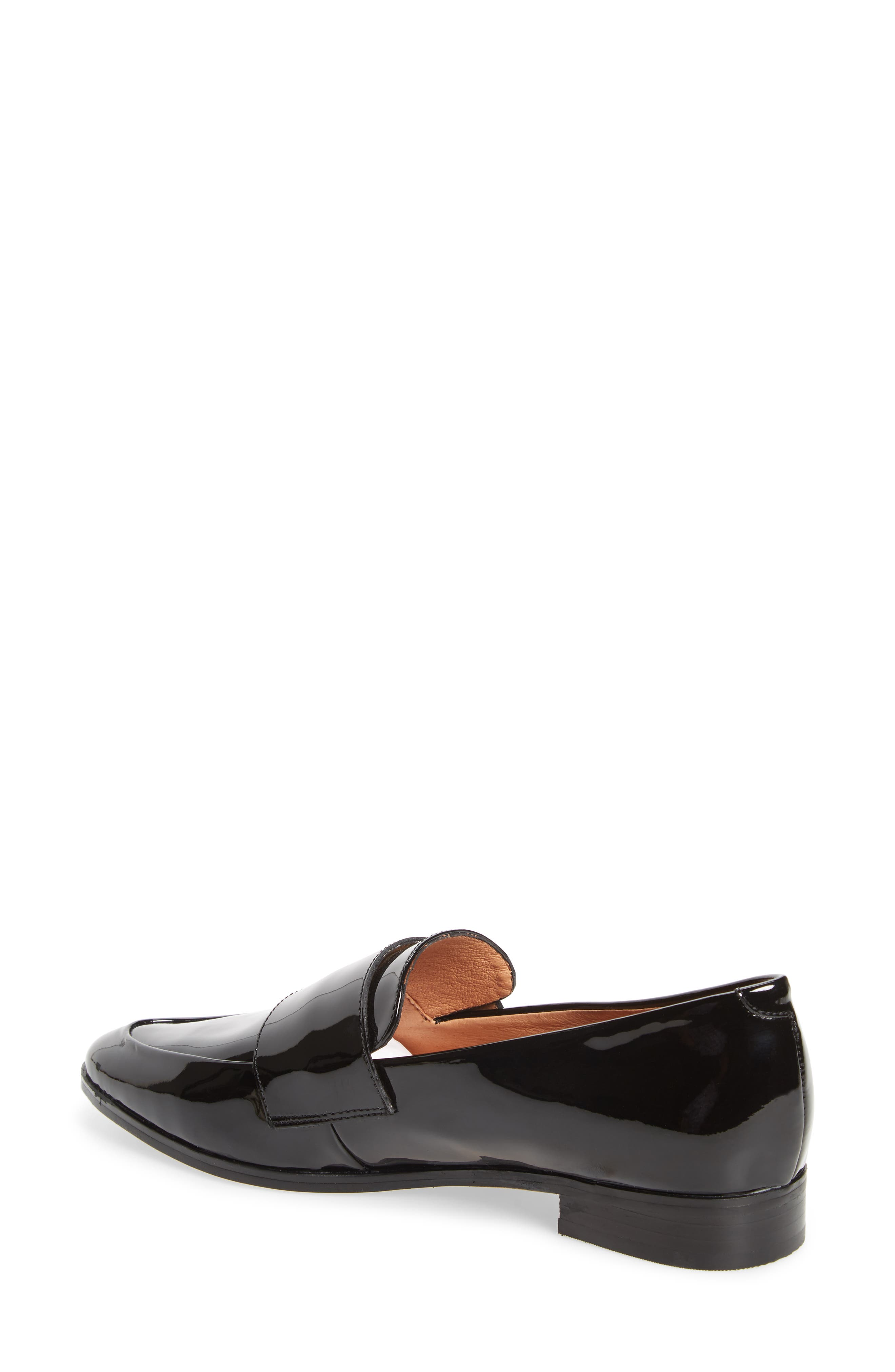 Emilia Loafer,                             Alternate thumbnail 2, color,                             BLACK PATENT LEATHER