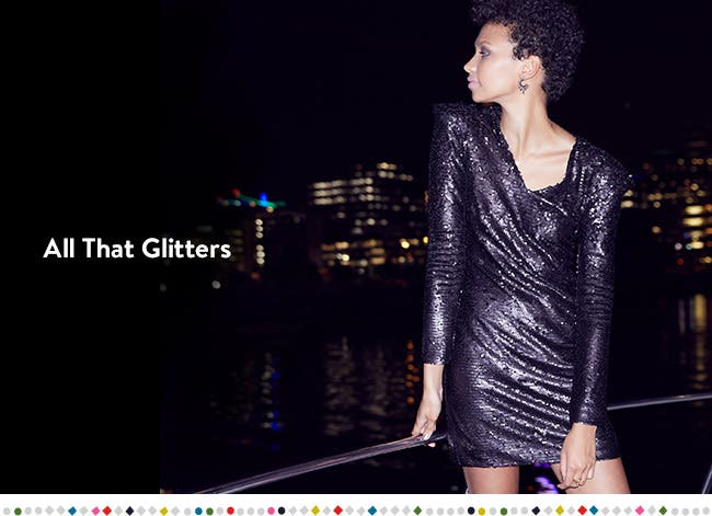 That party sparkle: holiday dressing.