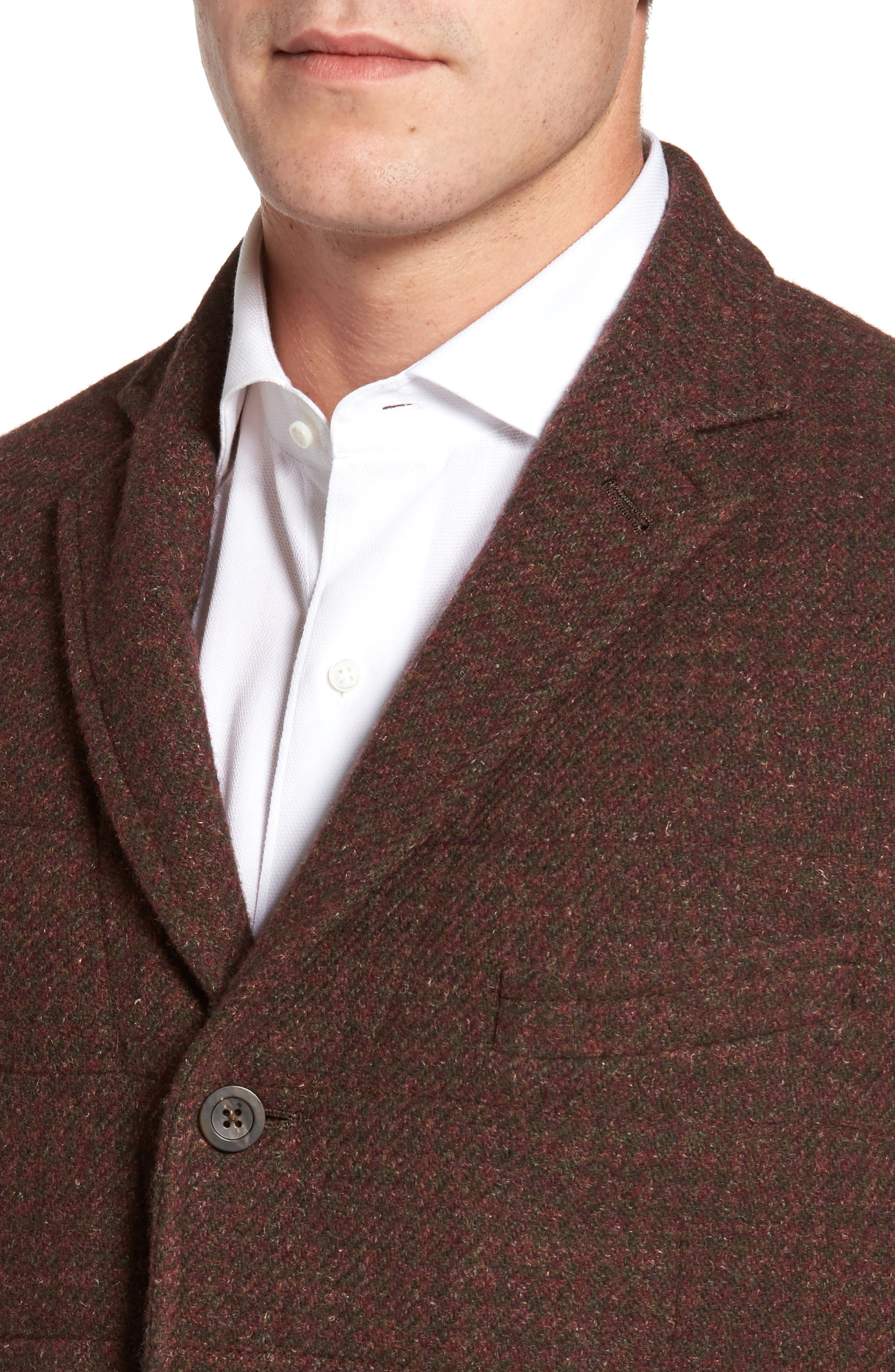 Quilted Wool Blend Hybrid Coat,                             Alternate thumbnail 4, color,                             220
