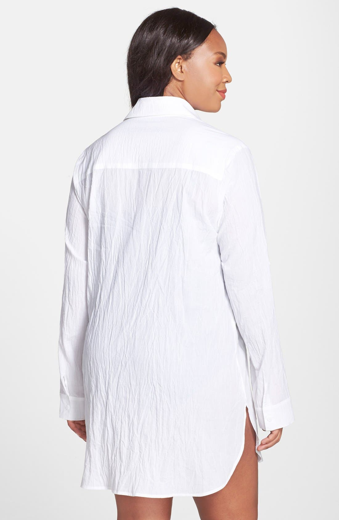 TOMMY BAHAMA,                             Boyfriend Shirt Cover-Up,                             Alternate thumbnail 8, color,                             WHITE
