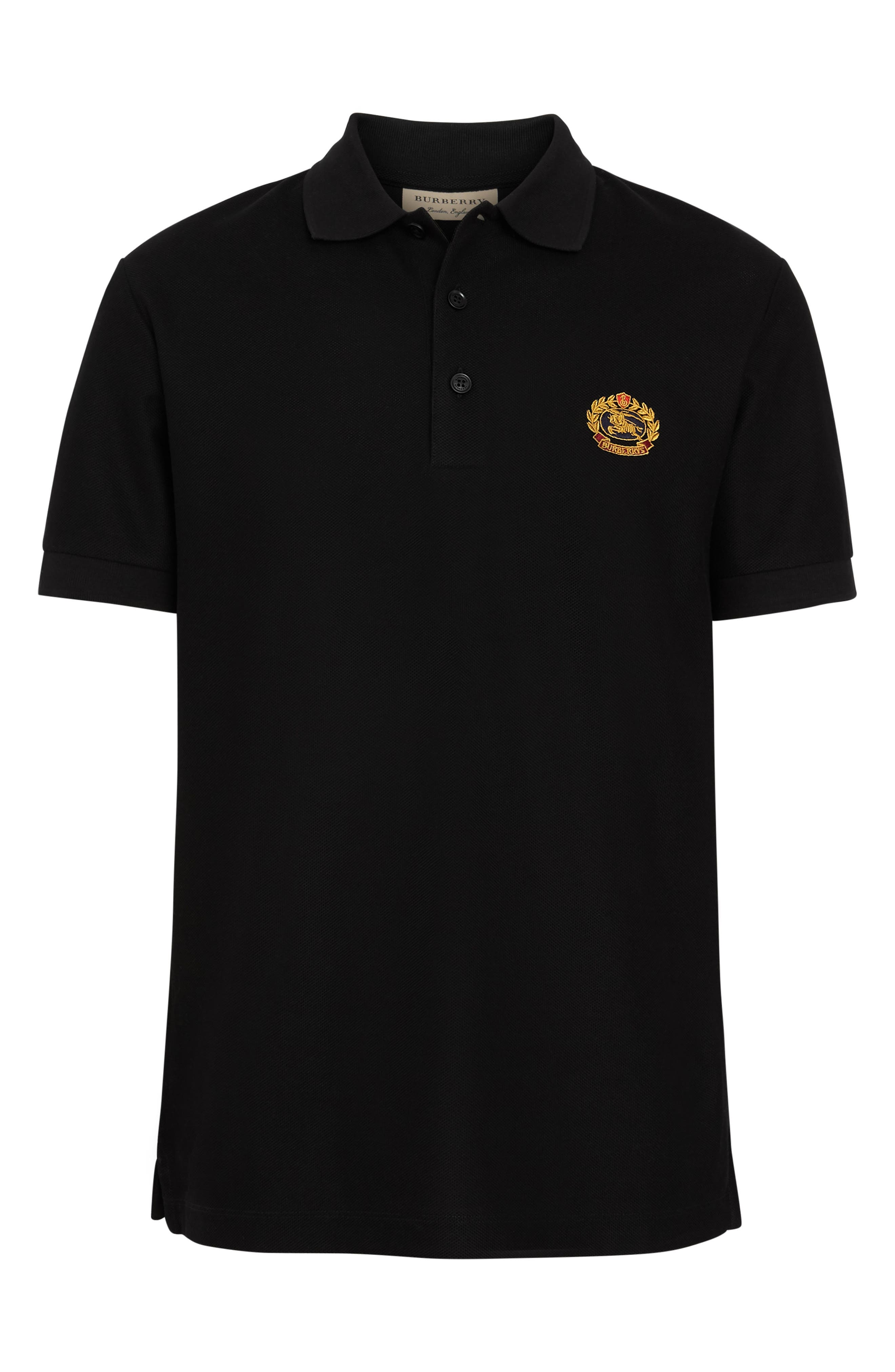 Densford Piqué Polo,                             Alternate thumbnail 3, color,                             001