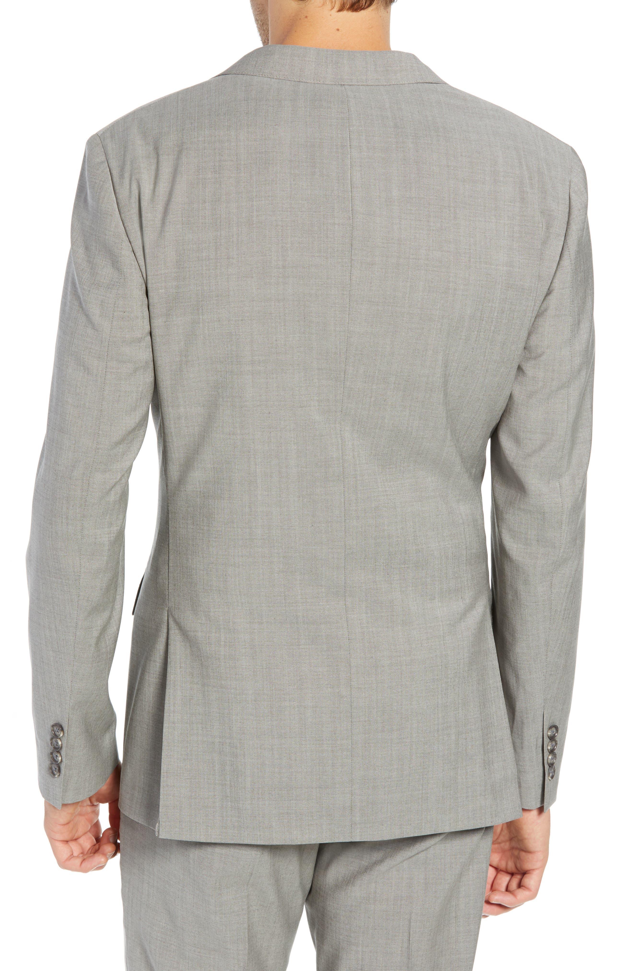 Jetsetter Slim Fit Stretch Wool Blazer,                             Alternate thumbnail 2, color,                             LIGHT BROWN