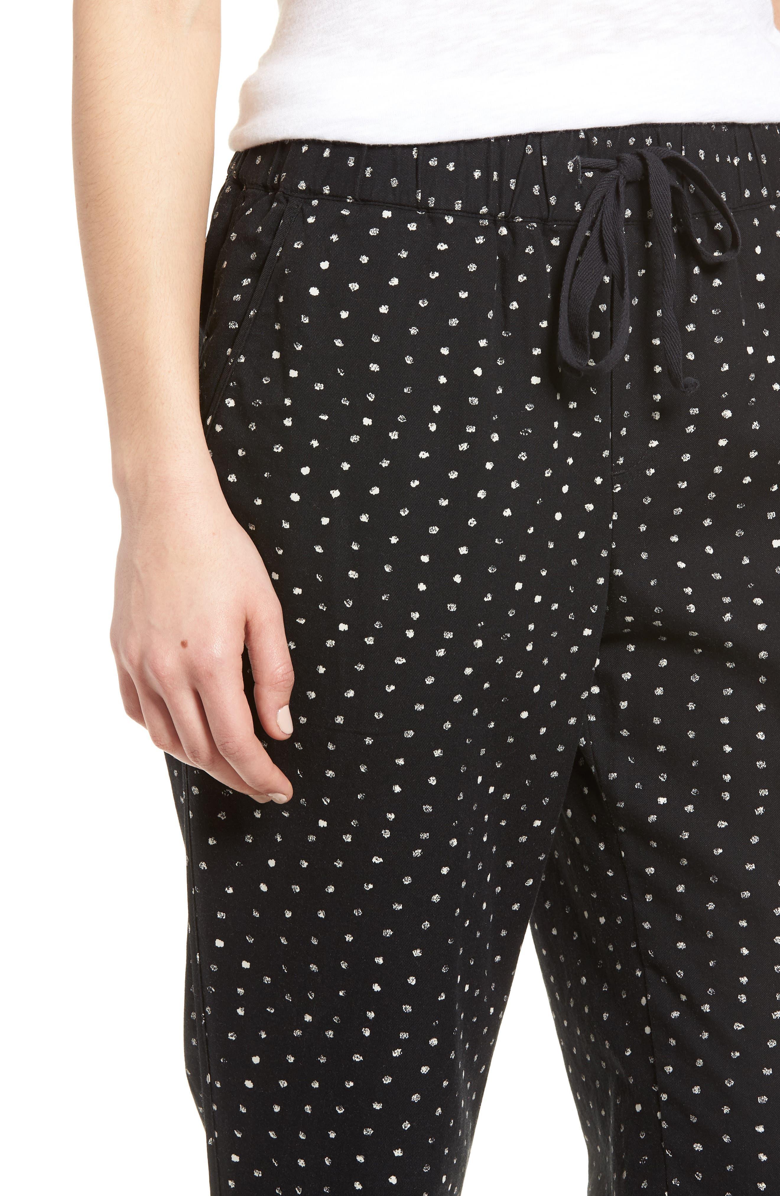 Pattern Cotton Blend Drawstring Pants,                             Alternate thumbnail 9, color,