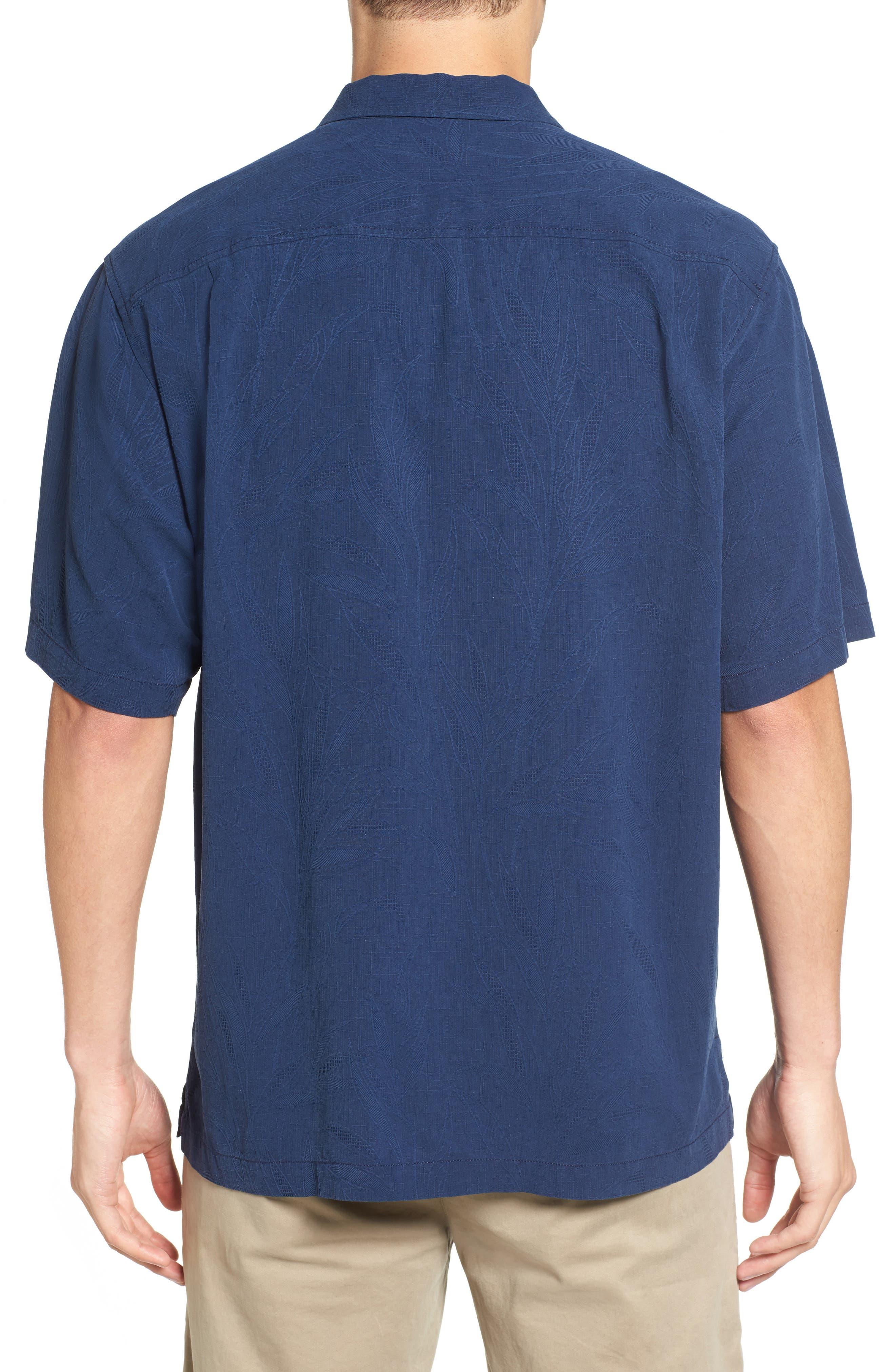 Islander Fronds Silk Camp Shirt,                             Alternate thumbnail 16, color,